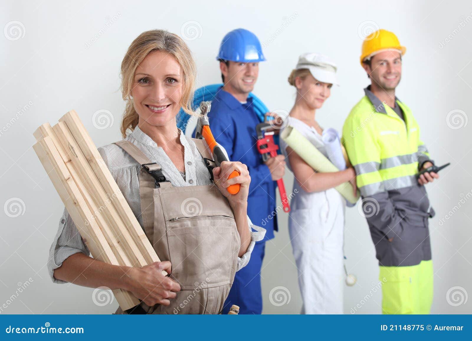 Arbetare för förgrund en