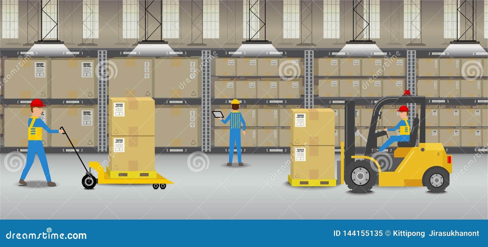 Arbetare i lager