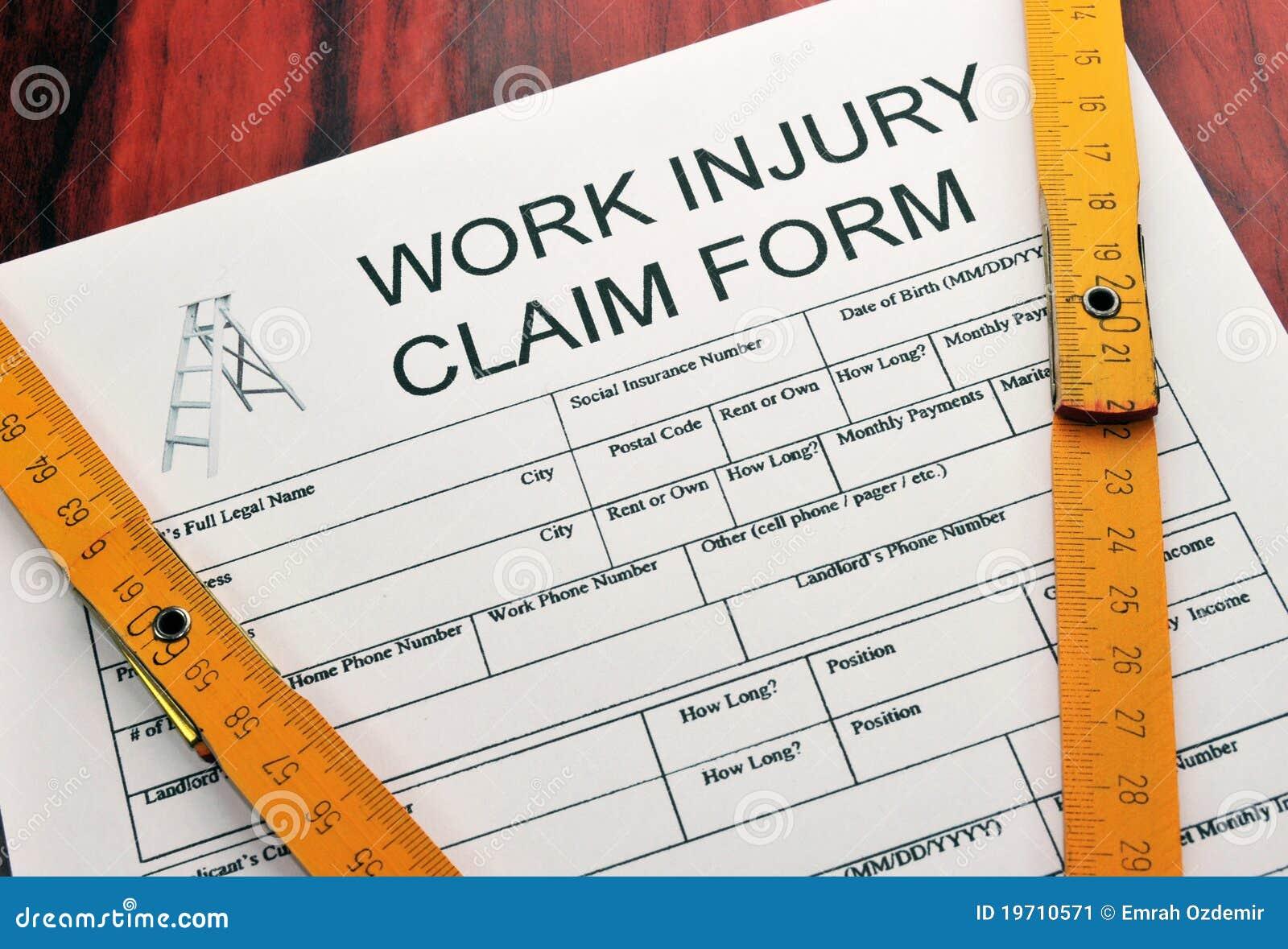 Arbete för skada för reklamationsdatalista