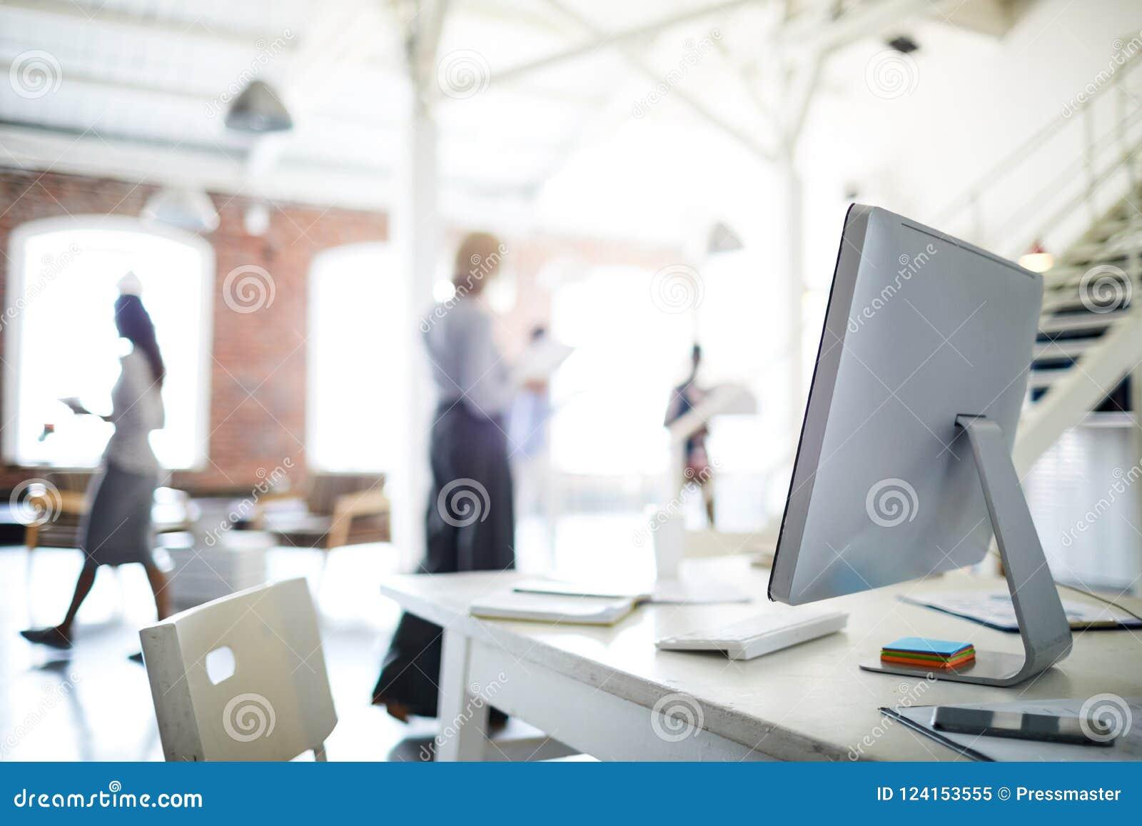 Arbetsplats på kontoret
