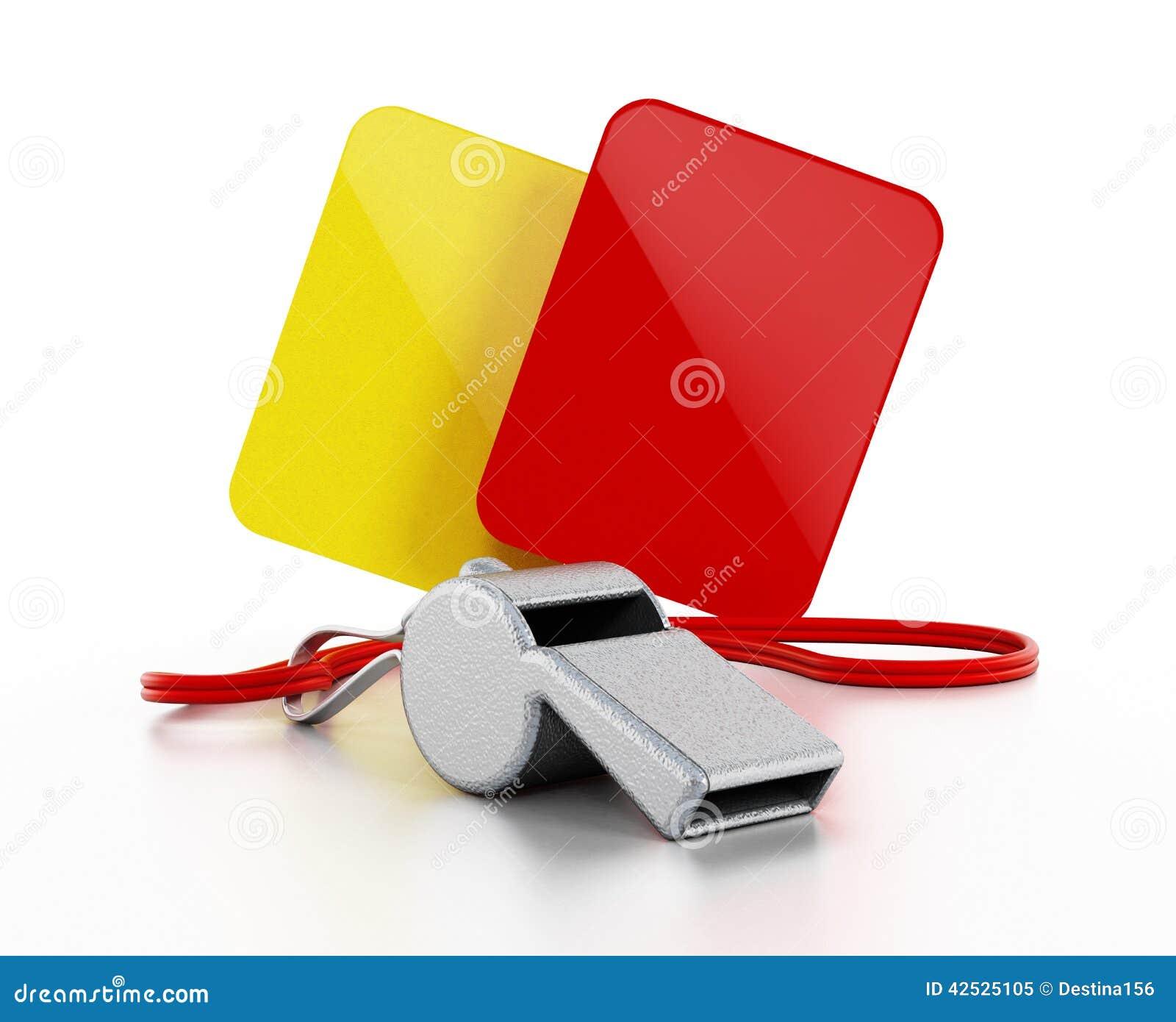 Arbitra gwizd, kolor żółty i czerwone kartki,