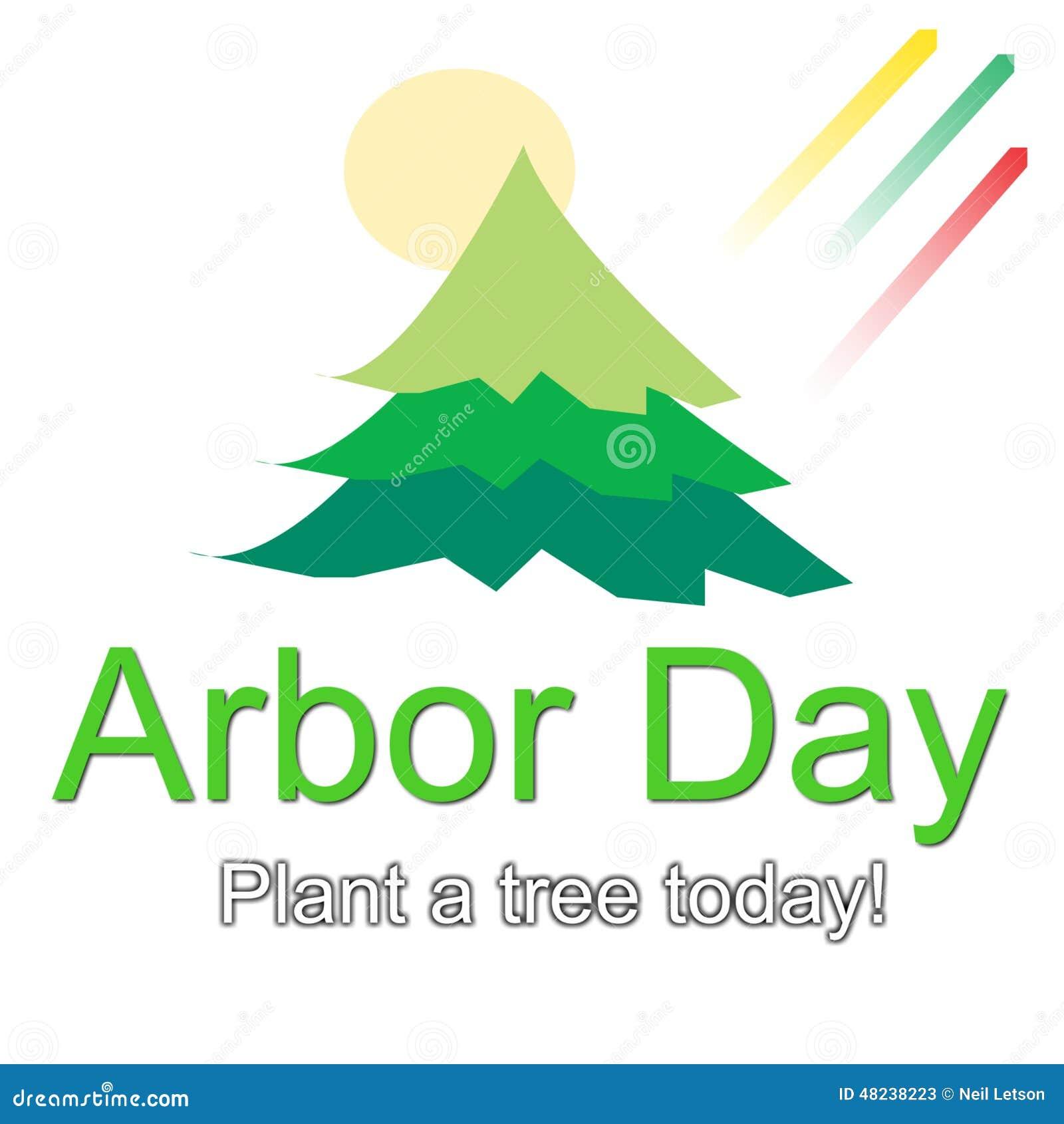 Arbor Day Logo Illustration