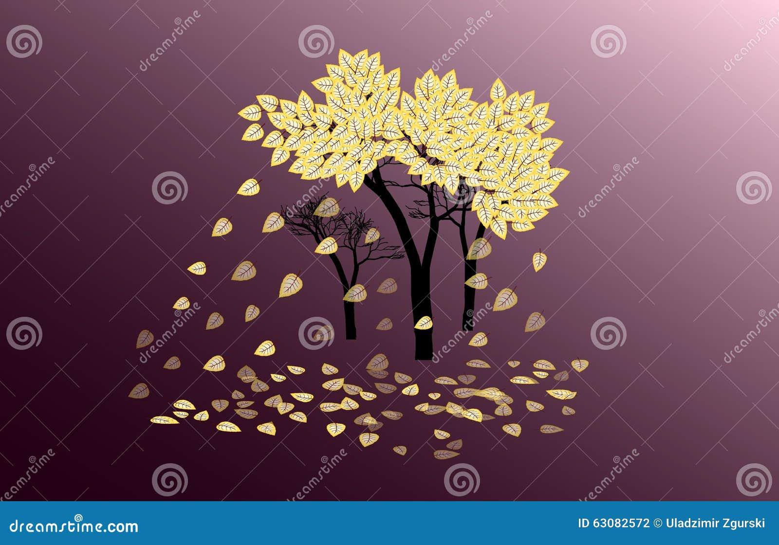 Download Arbre abstrait d'automne illustration stock. Illustration du milieux - 63082572