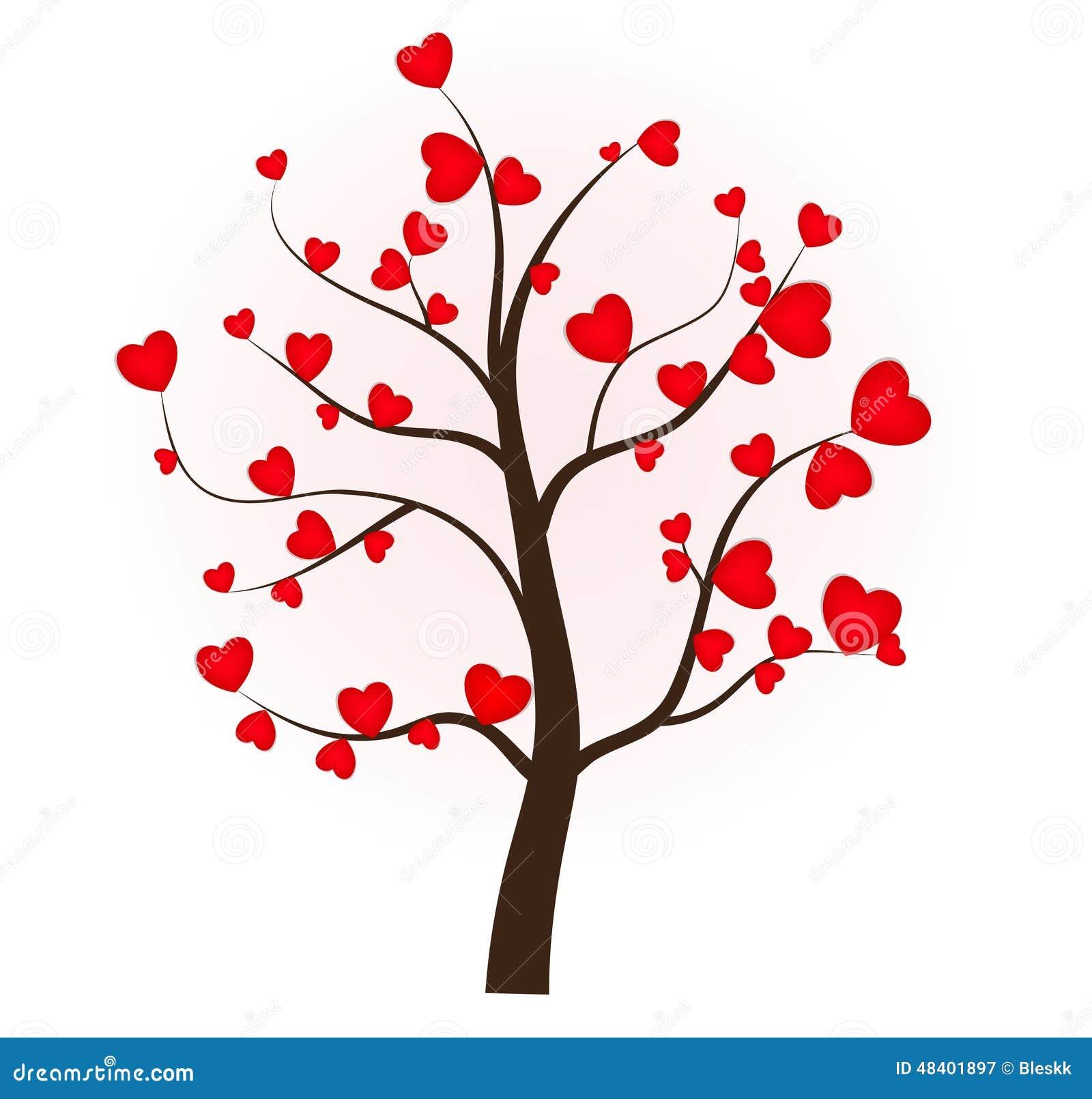 arbre amour coeur rose rouge mariage amoureux arbre de l 39 amour 14 f vrier illustration de. Black Bedroom Furniture Sets. Home Design Ideas