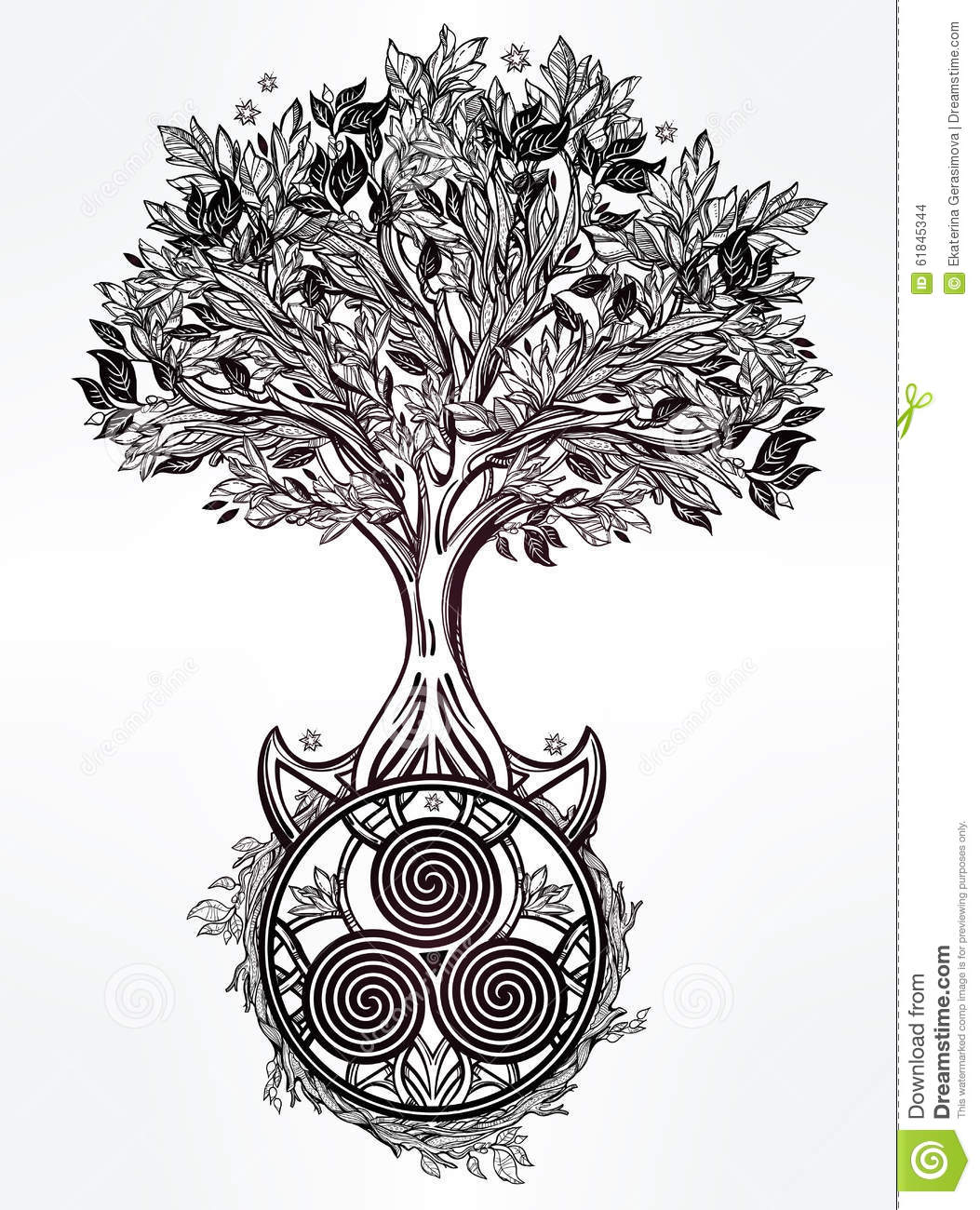 Arbre Celtique Dillustration De La Vie Illustration