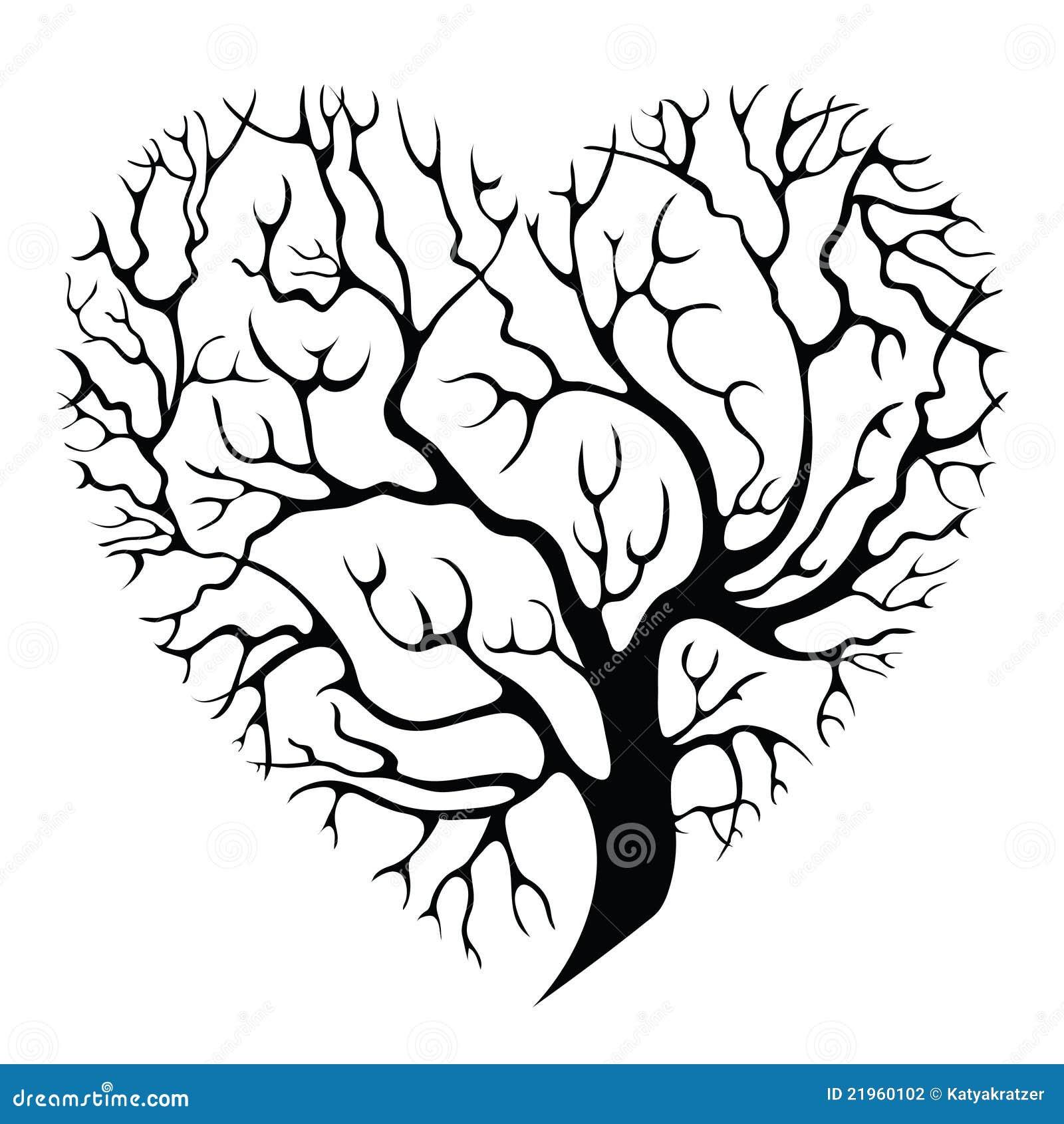 arbre coeur illustration de vecteur illustration du illustration 21960102. Black Bedroom Furniture Sets. Home Design Ideas