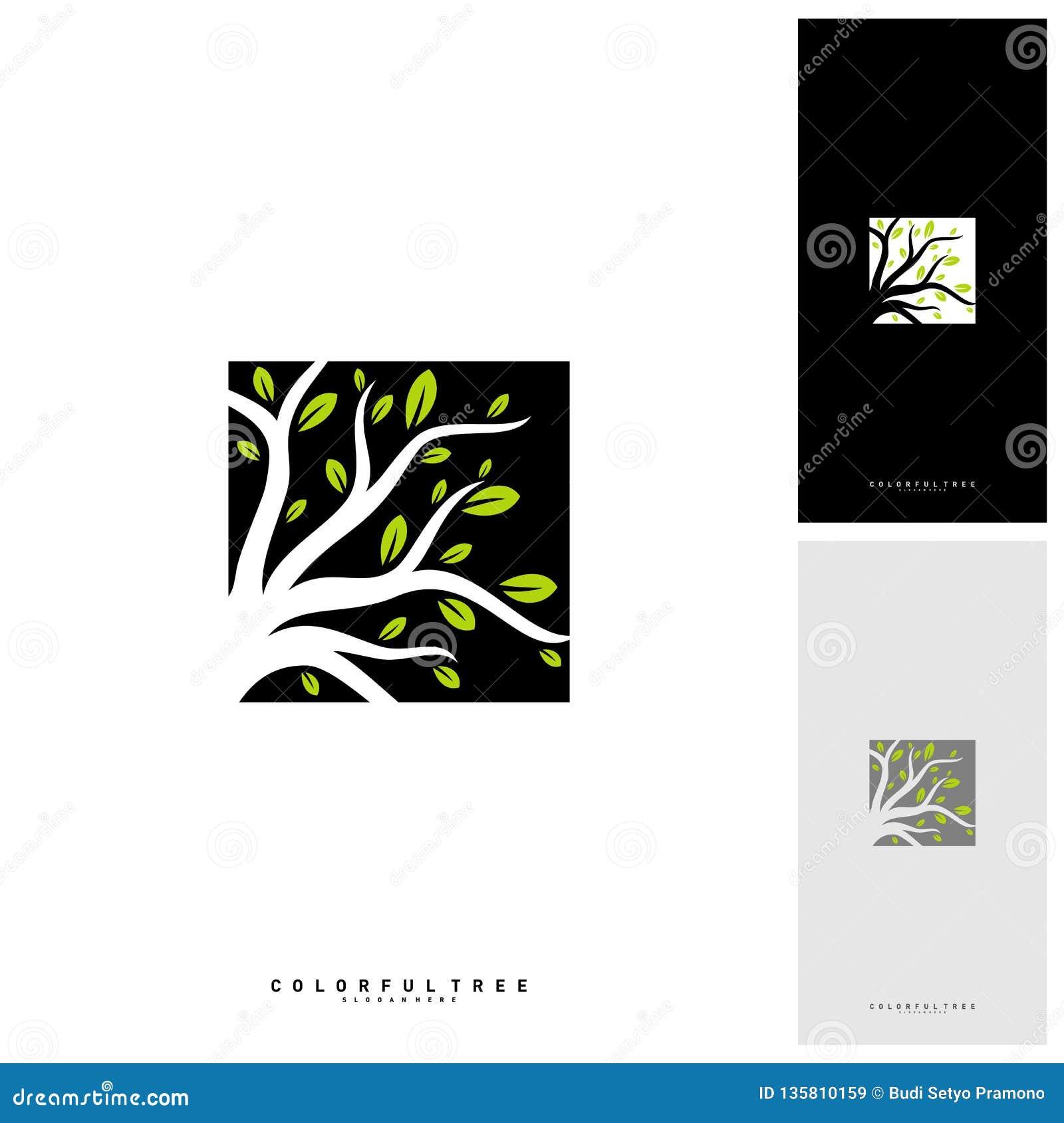 Arbre coloré Logo Design Template Concepts de luxe de logo d arbre Nature Logo Concepts Vector