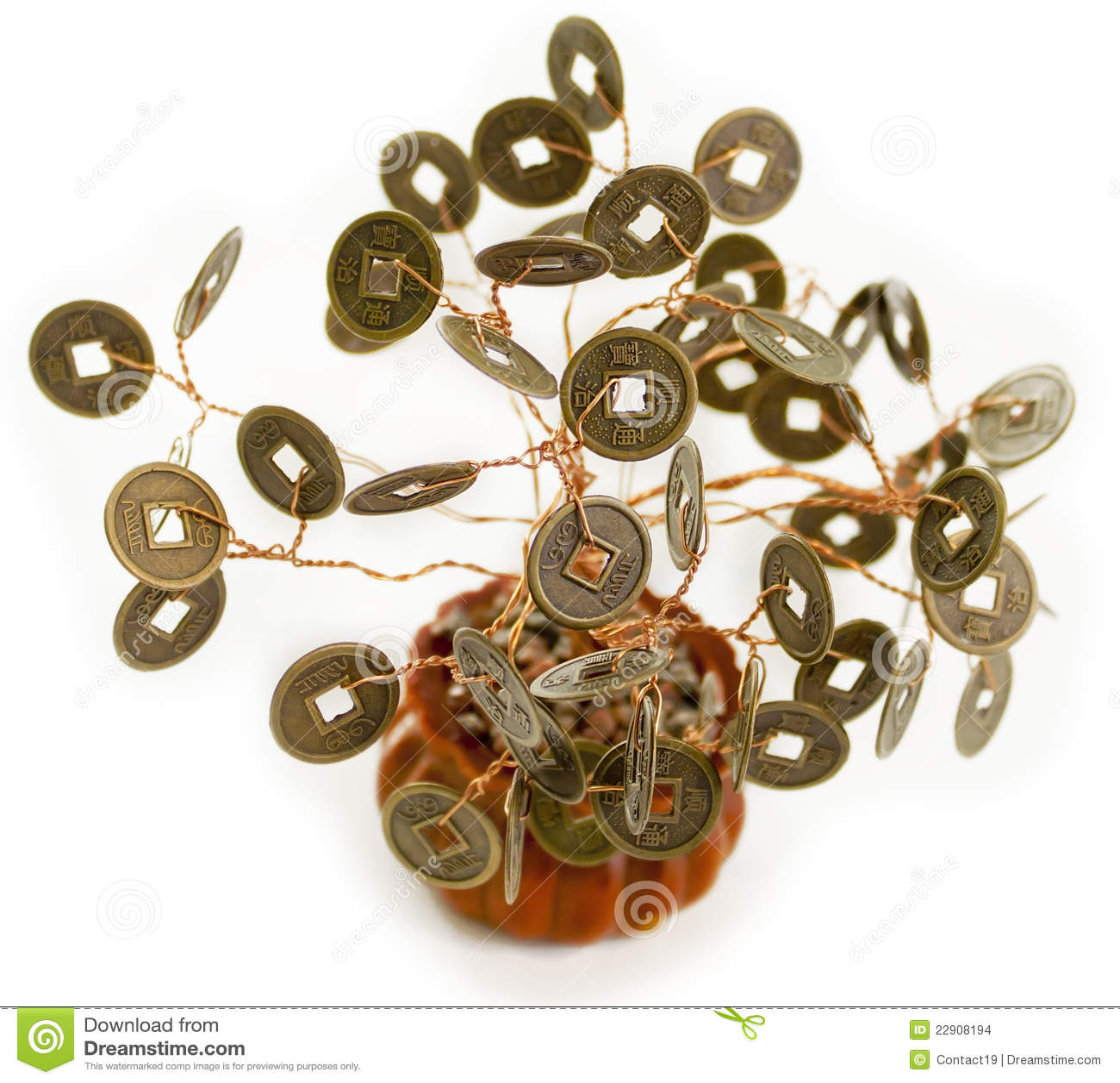 Feng Shui Argent arbre d'argent de feng shui photo stock - image du branchements