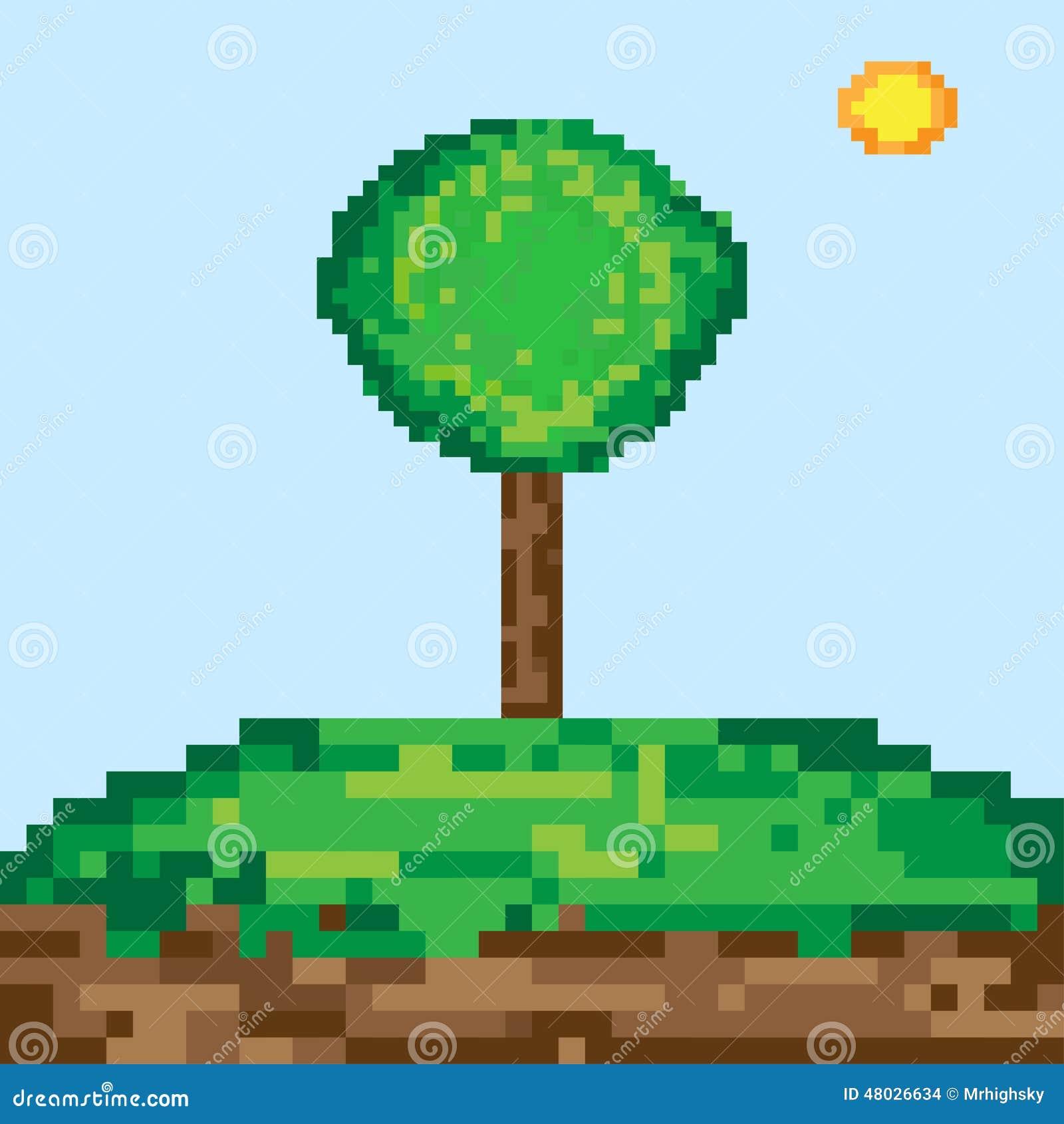 arbre d 39 art de pixel illustration de vecteur image 48026634. Black Bedroom Furniture Sets. Home Design Ideas