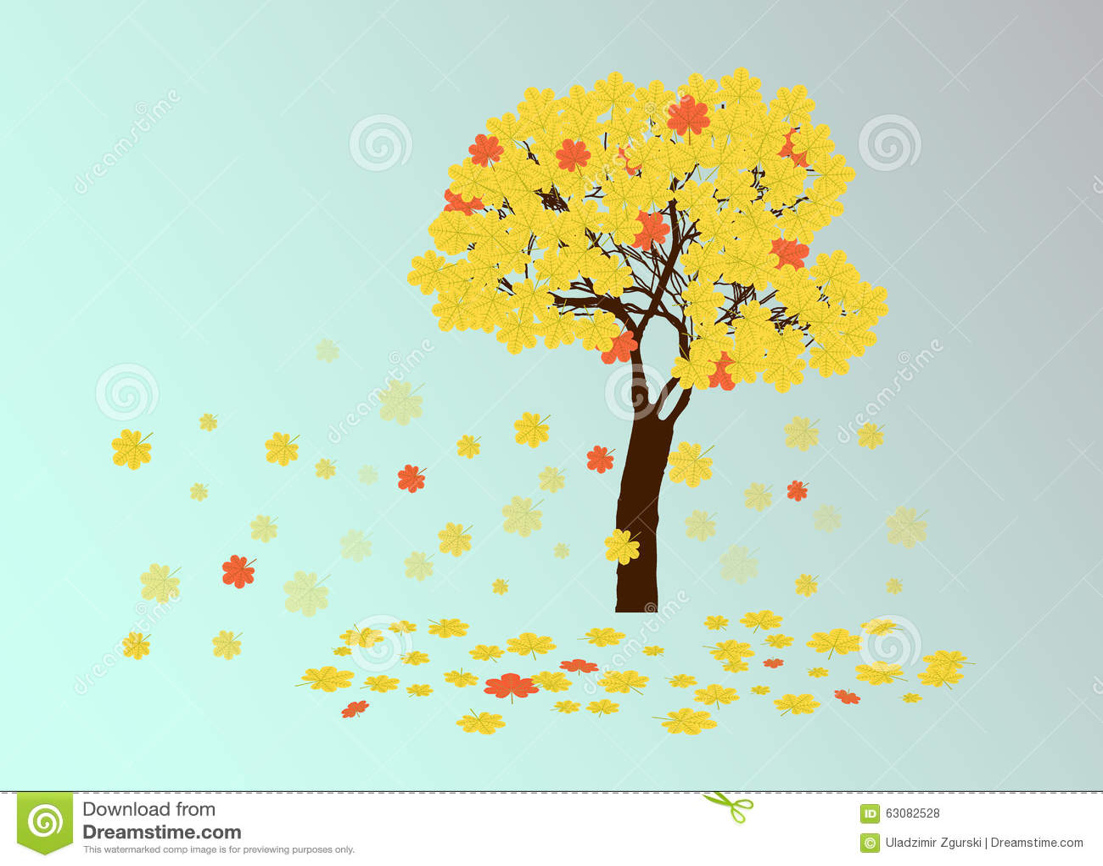 Download Arbre De Châtaigne Jaune D'automne Illustration de Vecteur - Illustration du couleurs, heap: 63082528