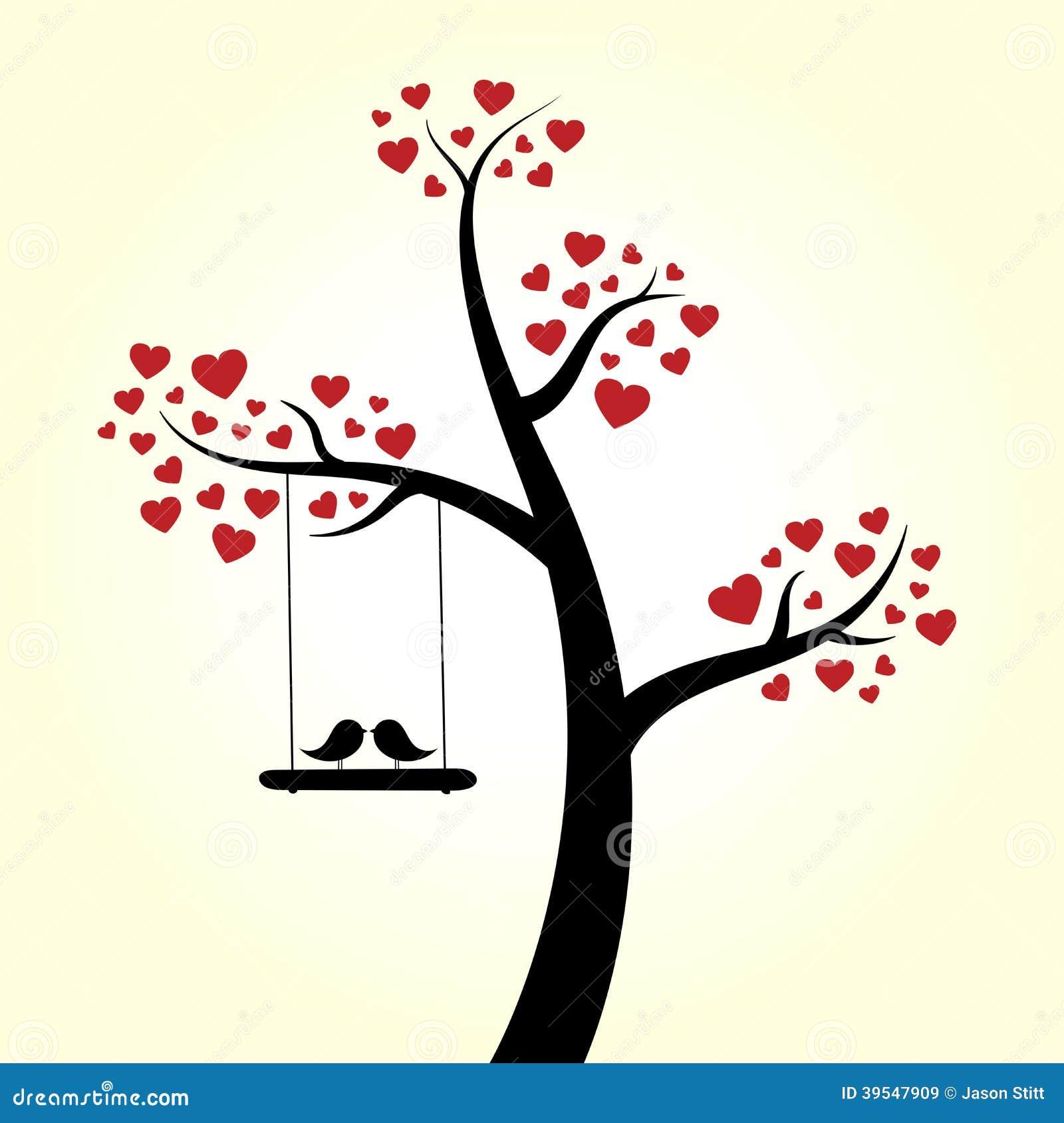 arbre de coeur d 39 amour illustration de vecteur illustration du baisers 39547909. Black Bedroom Furniture Sets. Home Design Ideas