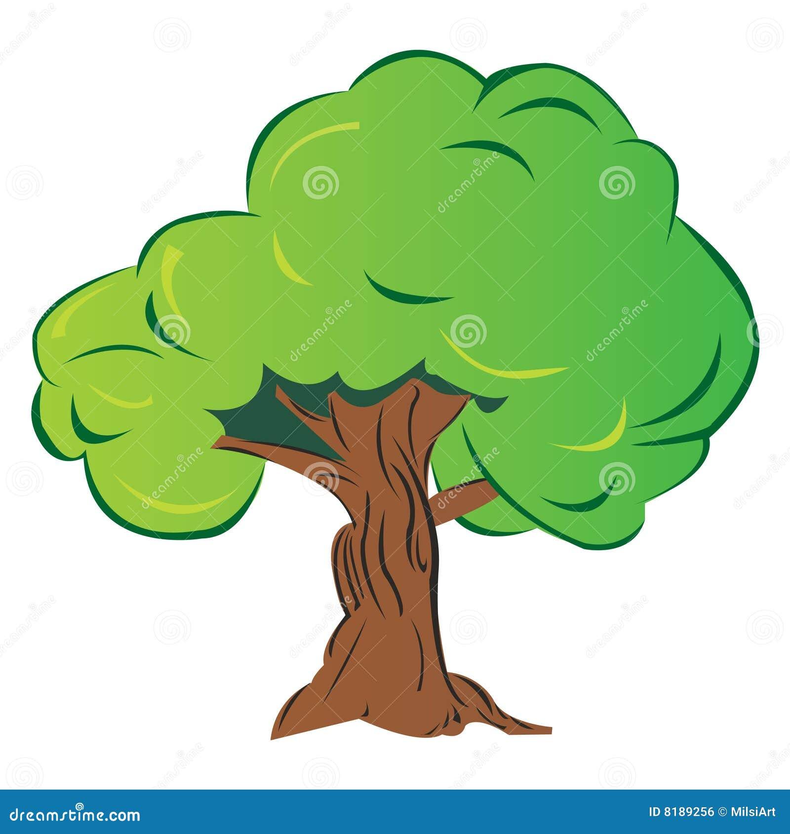 arbre de dessin anim image libre de droits image 8189256. Black Bedroom Furniture Sets. Home Design Ideas