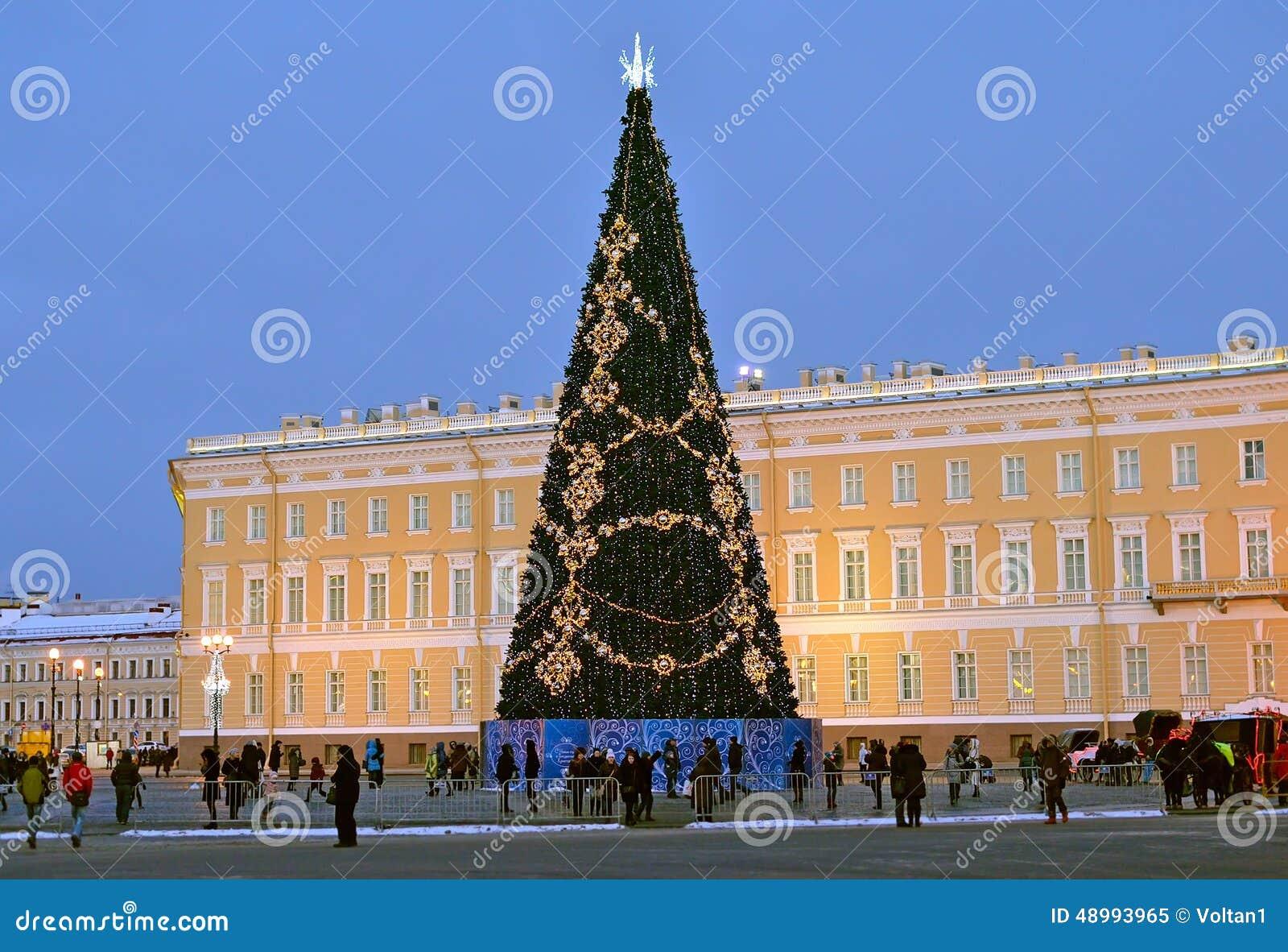 Arbre De Noël à St Petersburg, Russie Image éditorial - Image ...