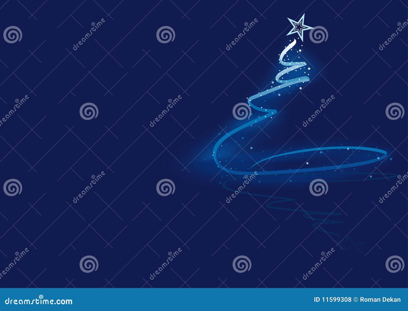 Arbre de Noël abstrait bleu