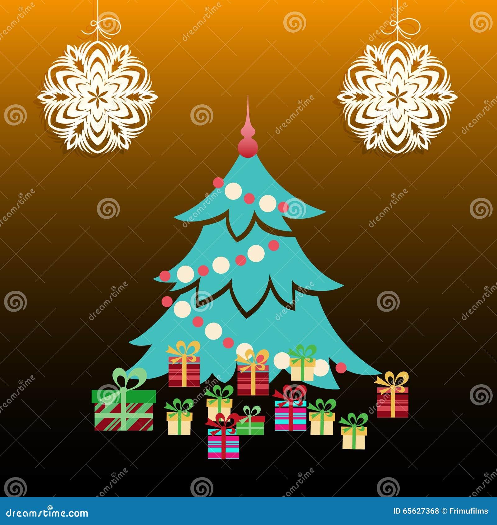 Arbre de Noël avec des présents
