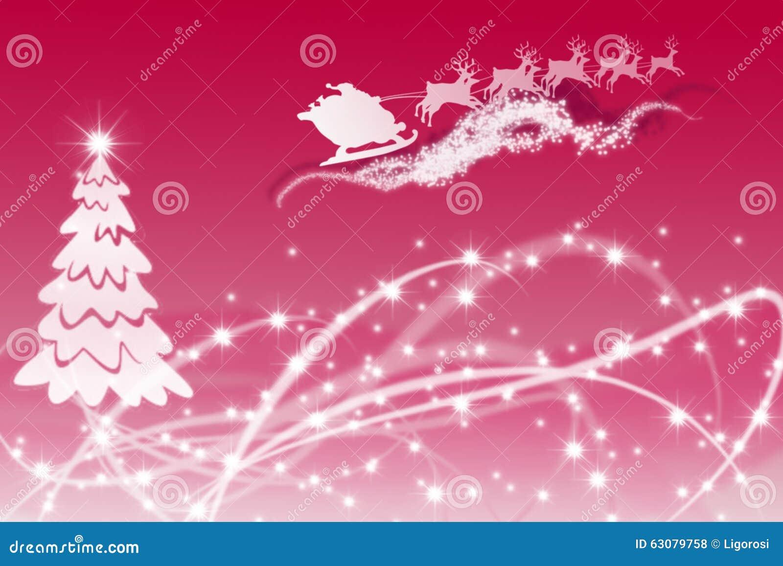 Download Arbre De Noël Blanc Dessiné Par Des Cercles Avec Santa Photo stock - Image du lumière, fond: 63079758