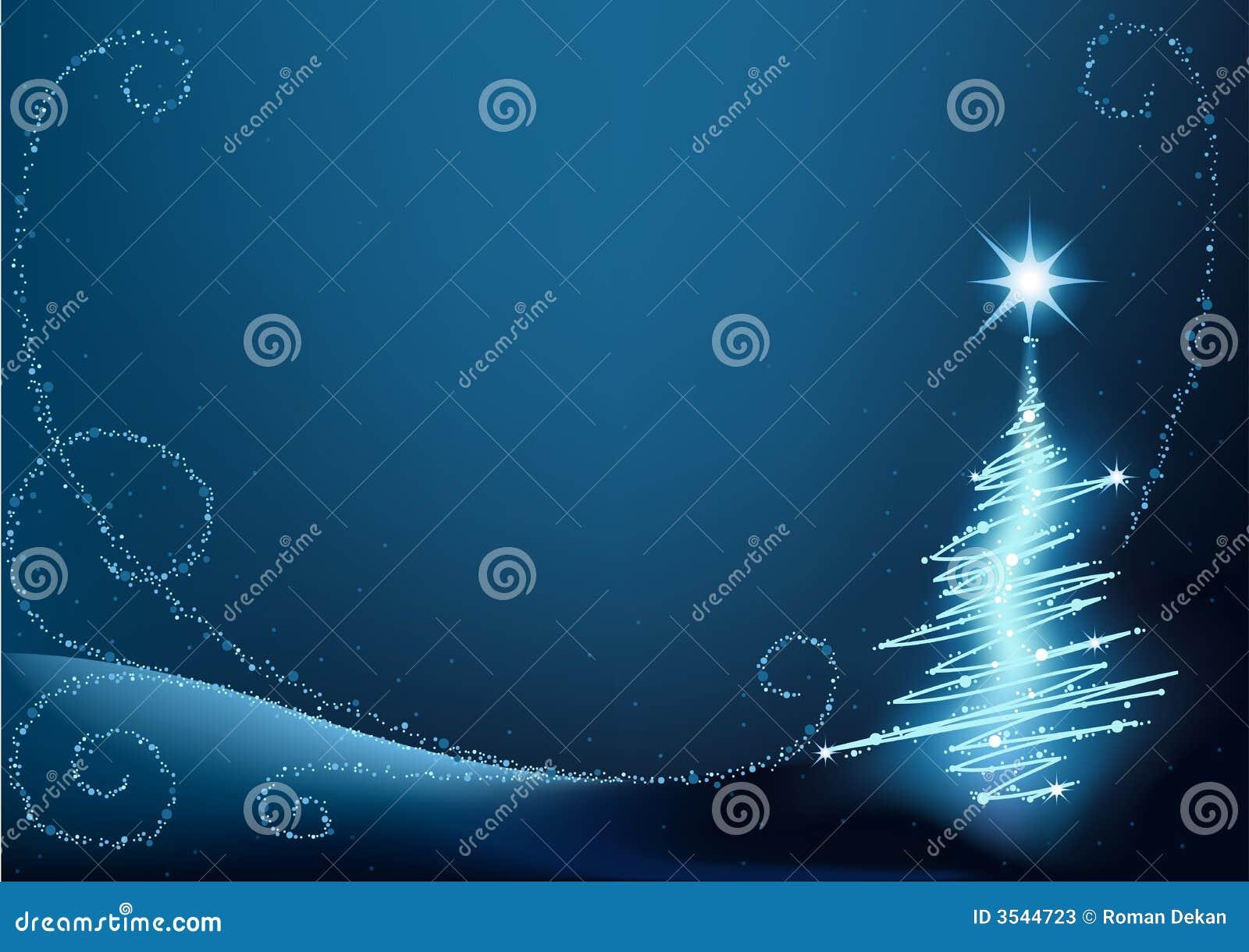 Arbre de Noël bleu