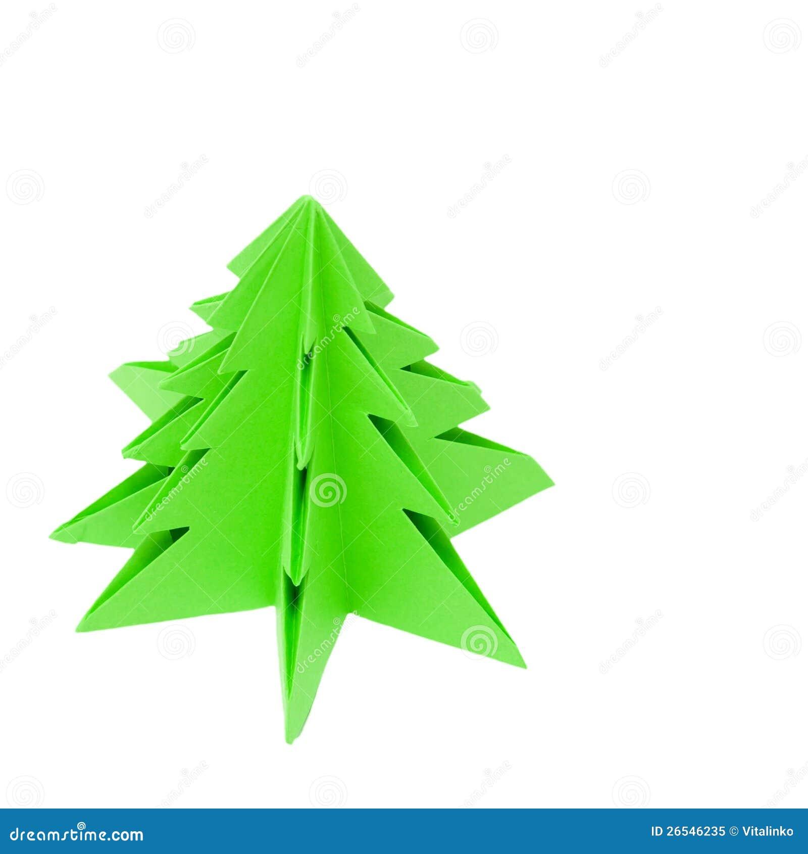 Arbre de no l d 39 origami photo libre de droits image 26546235 - Arbre de noel origami ...
