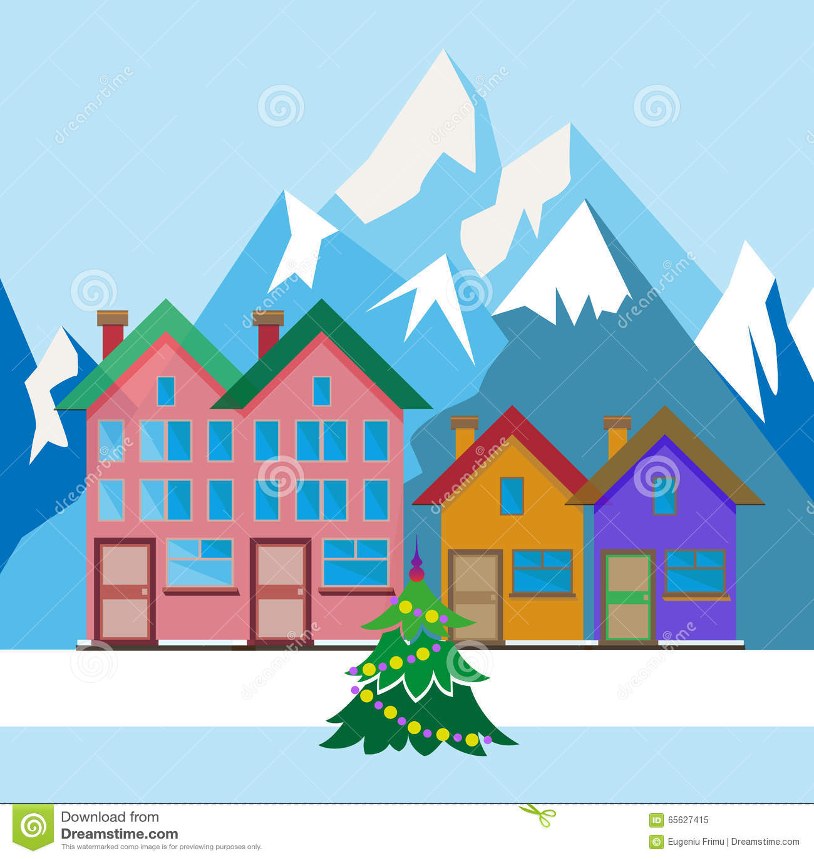 Arbre de Noël dans la cour