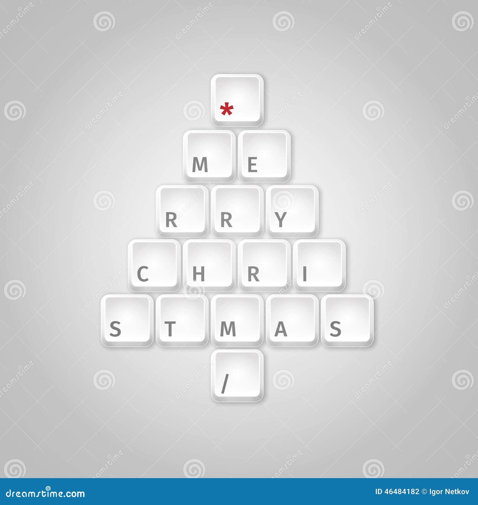 Arbre de Noël fait de touches d ordinateur