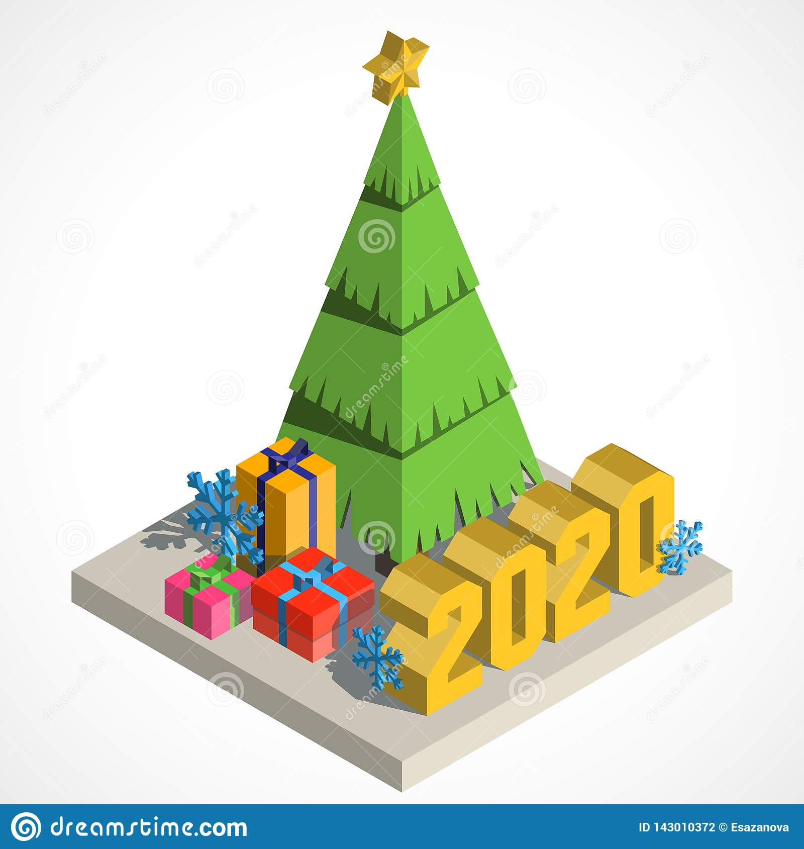 Arbre de Noël isometry