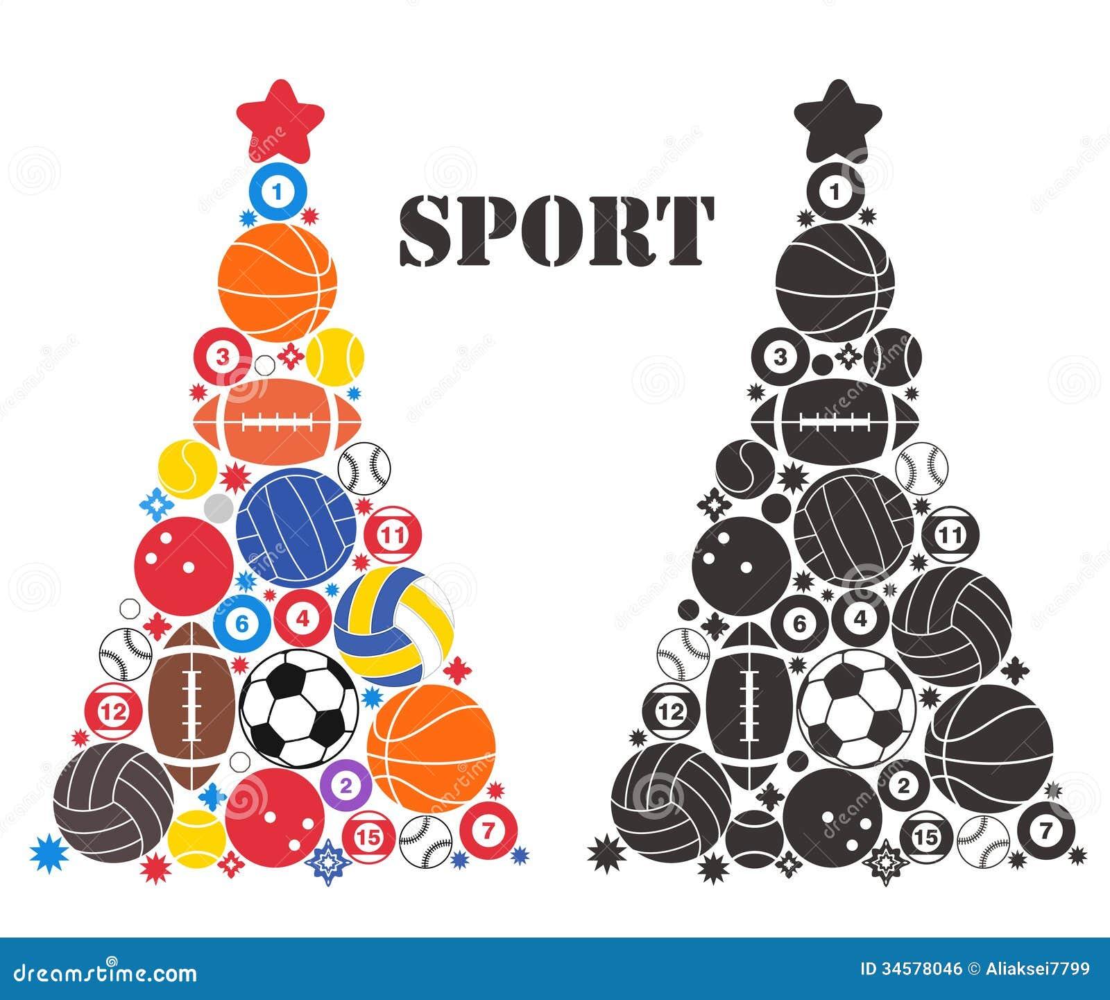 Arbre de Noël peu commun. Sport