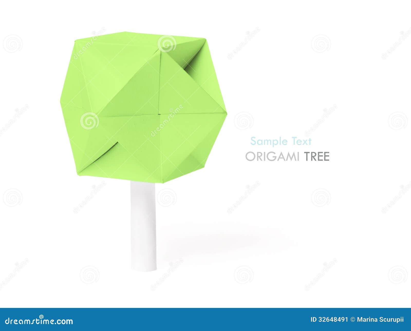 Arbre de papier d 39 origami image stock image 32648491 - Arbol de navidad de origami ...