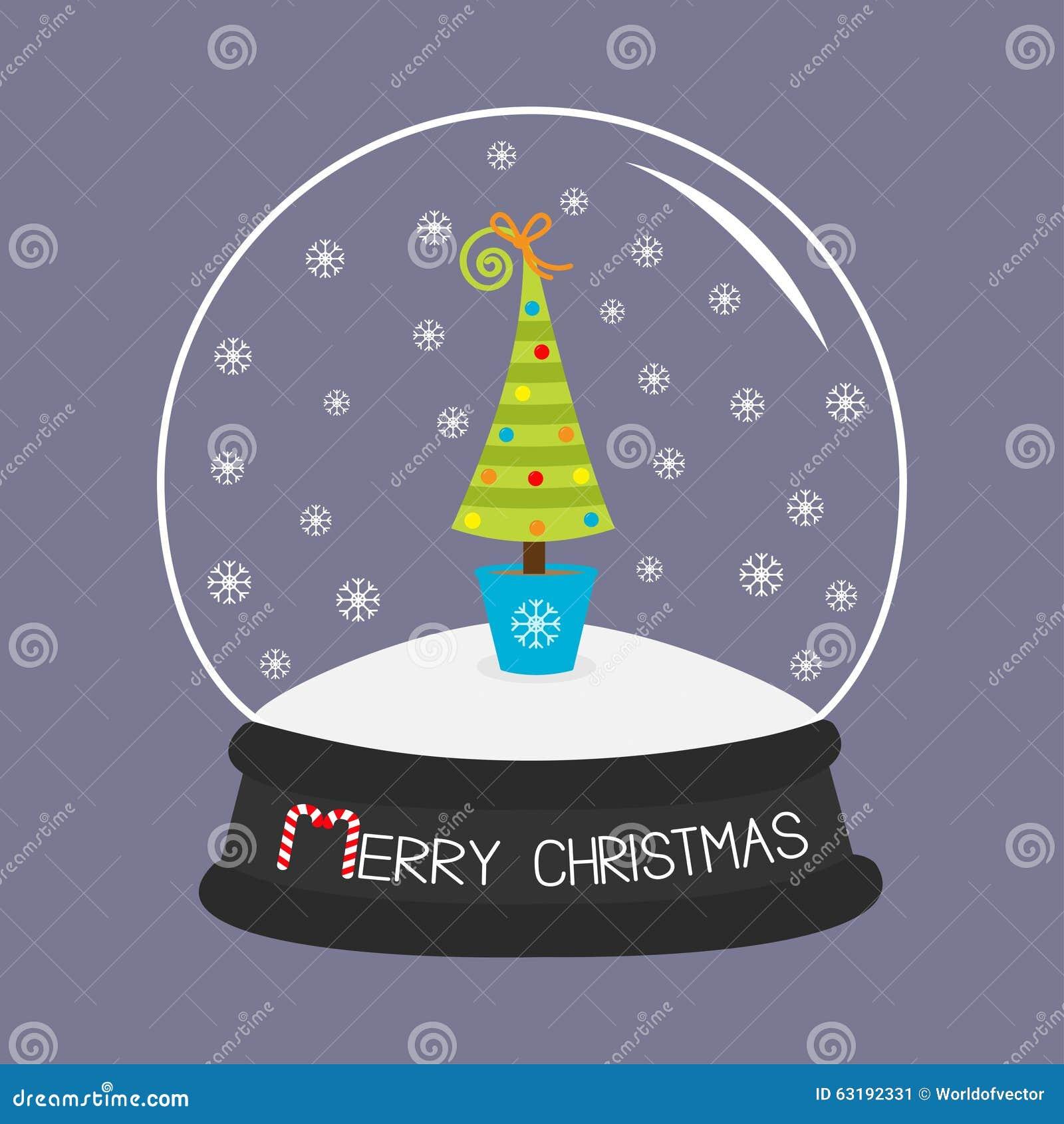 Arbre de sapin jouets arc boule de cristal et flocons de - Arbre boule de neige ...