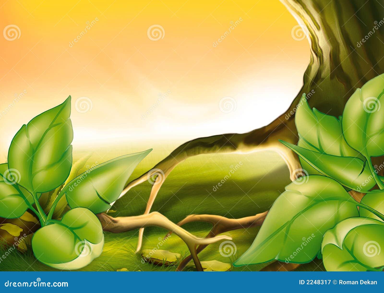 arbre et arbustes illustration stock illustration du. Black Bedroom Furniture Sets. Home Design Ideas