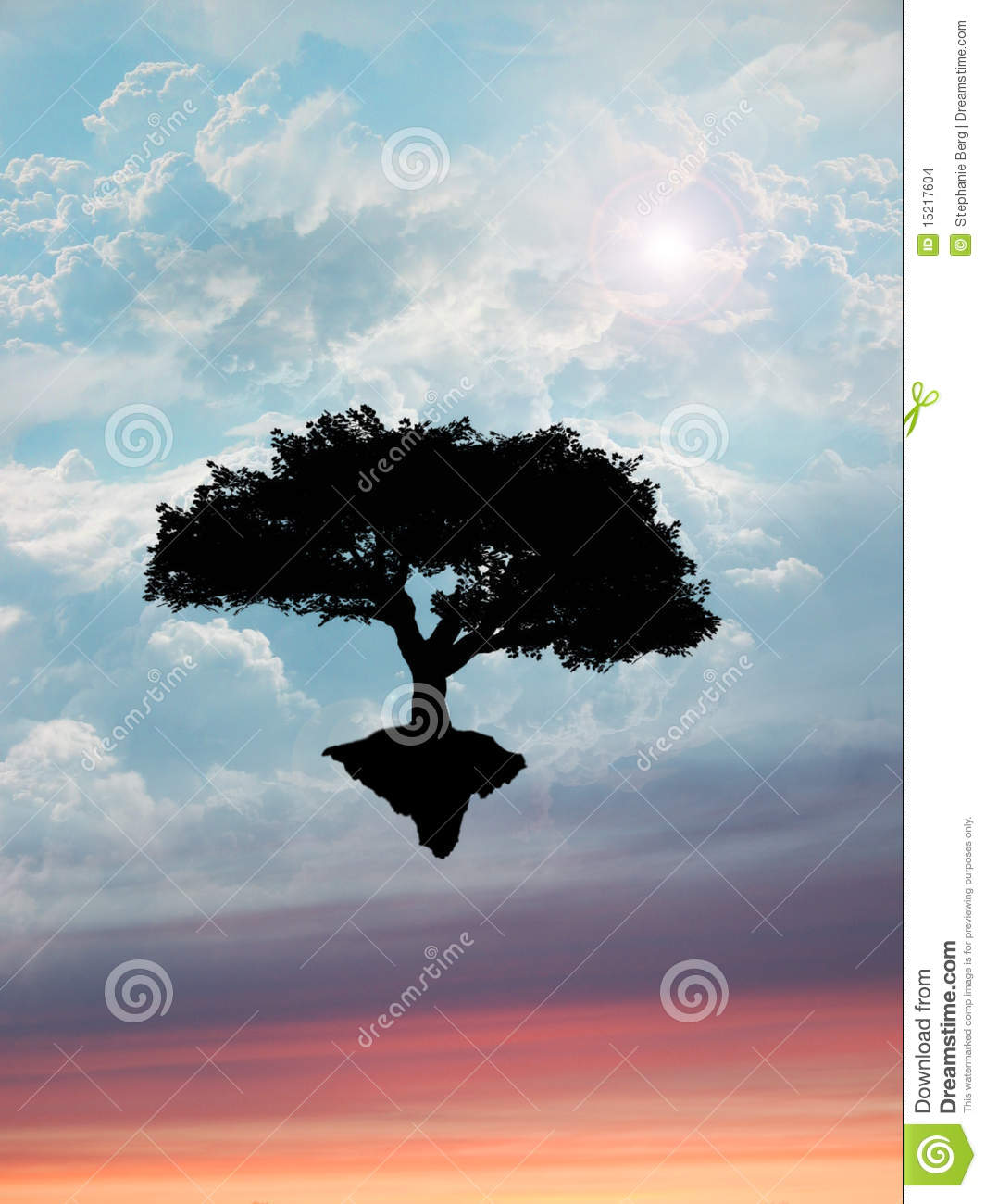 arbre flottant en ciel photo stock image du environnement. Black Bedroom Furniture Sets. Home Design Ideas