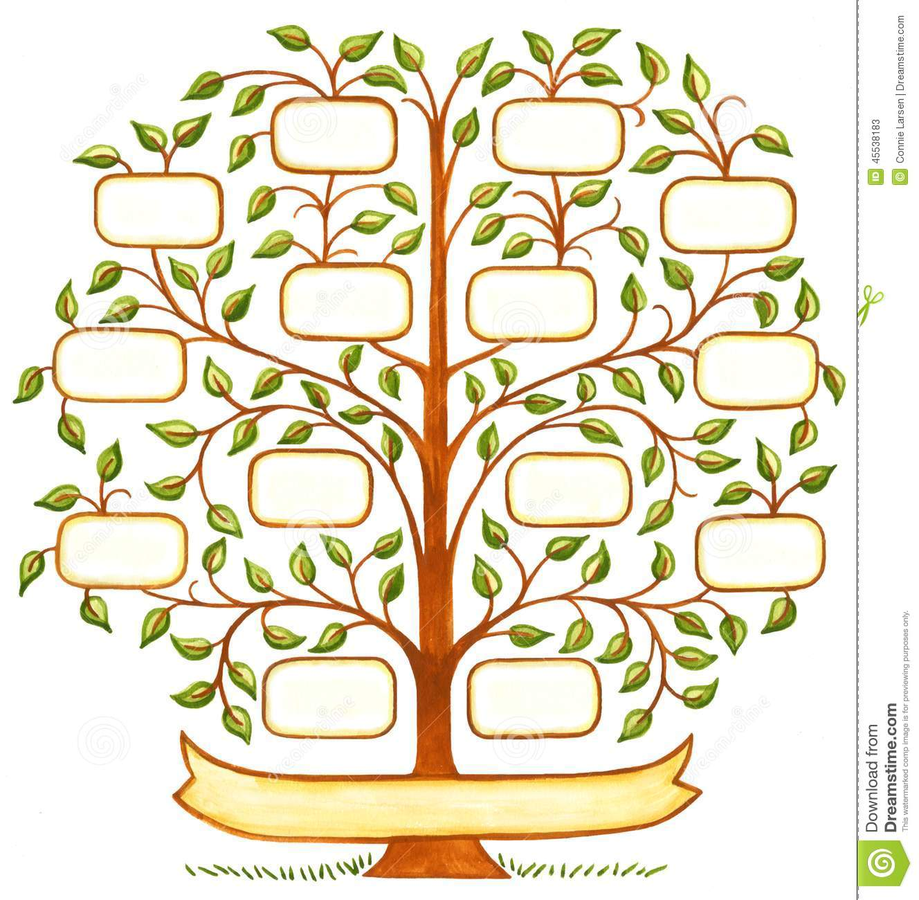 Arbre g n alogique peint la main illustration stock - Arbre genealogique avec photo ...