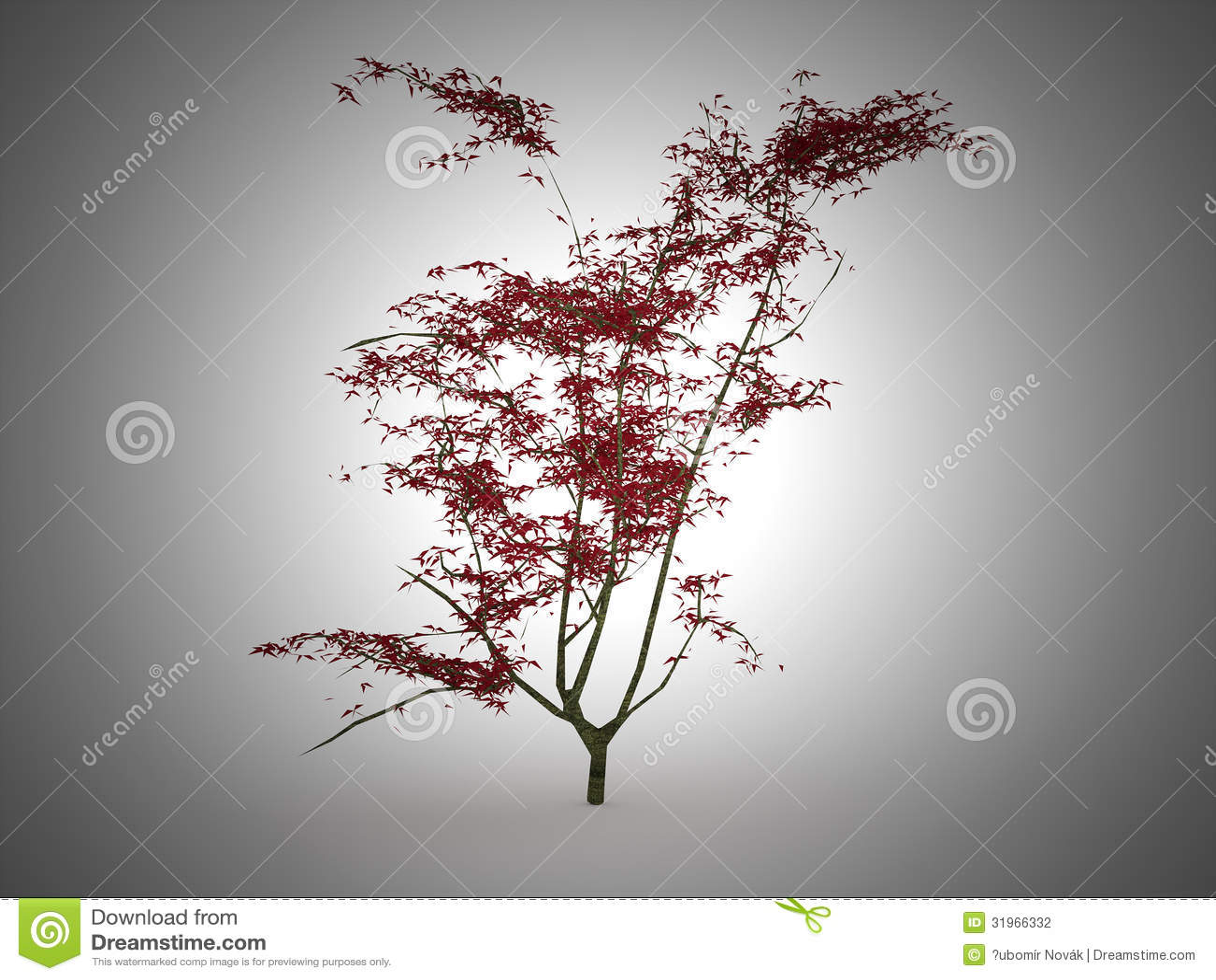 arbre japonais rouge de feuille illustration stock image 31966332. Black Bedroom Furniture Sets. Home Design Ideas
