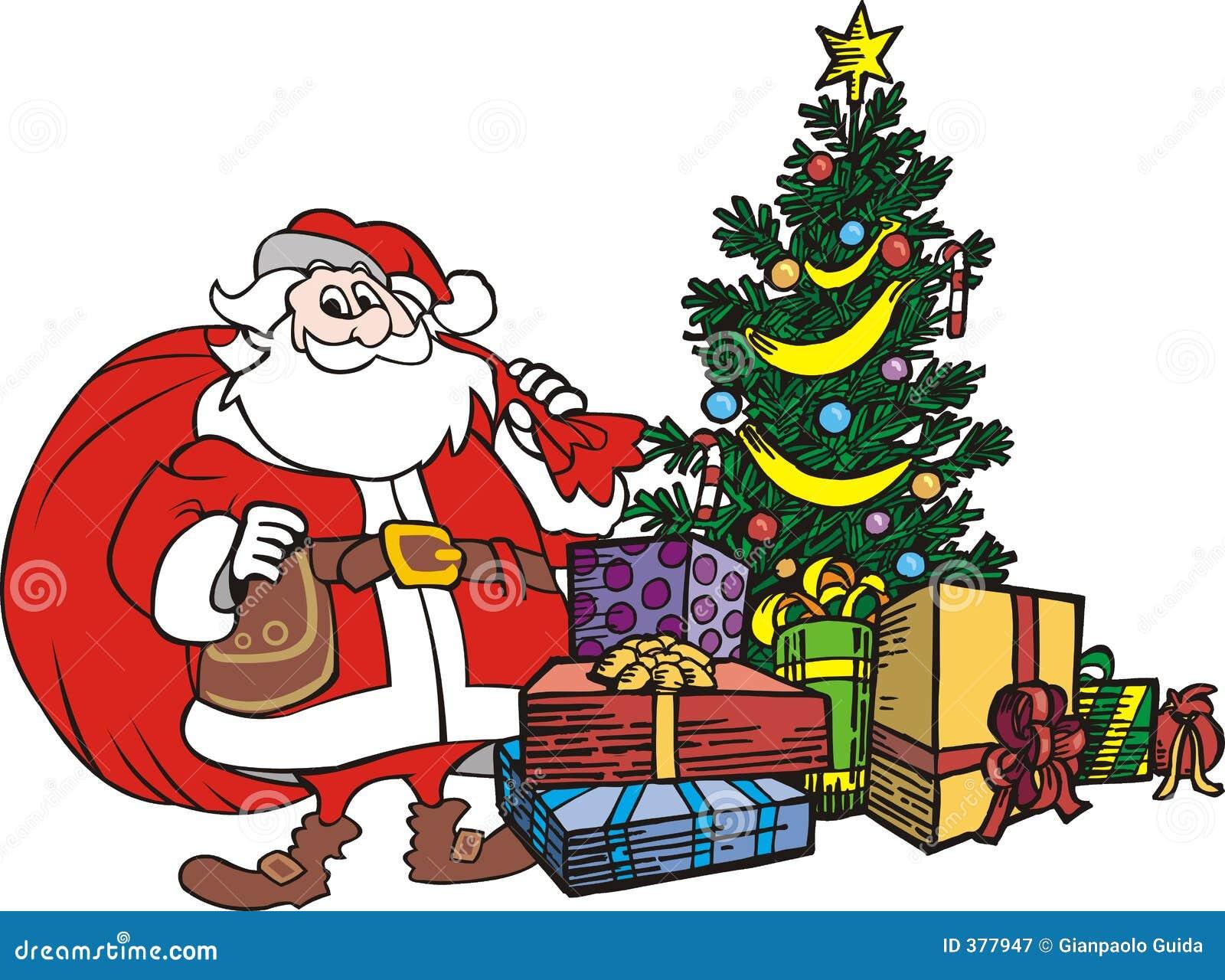 Arbre le père noël de Noël