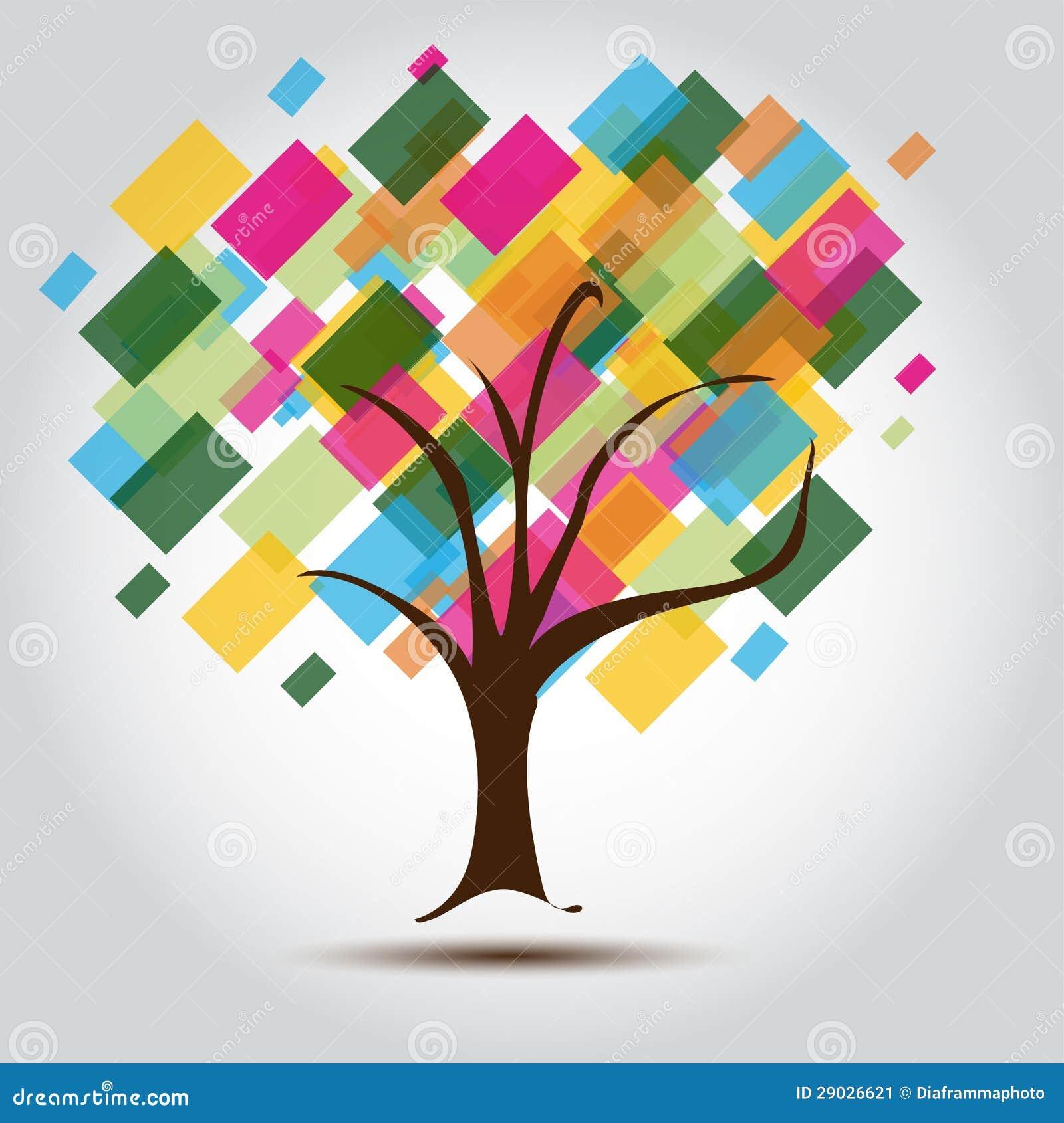 Arbre Multicolore Pour La Carte De Visite Professionnelle