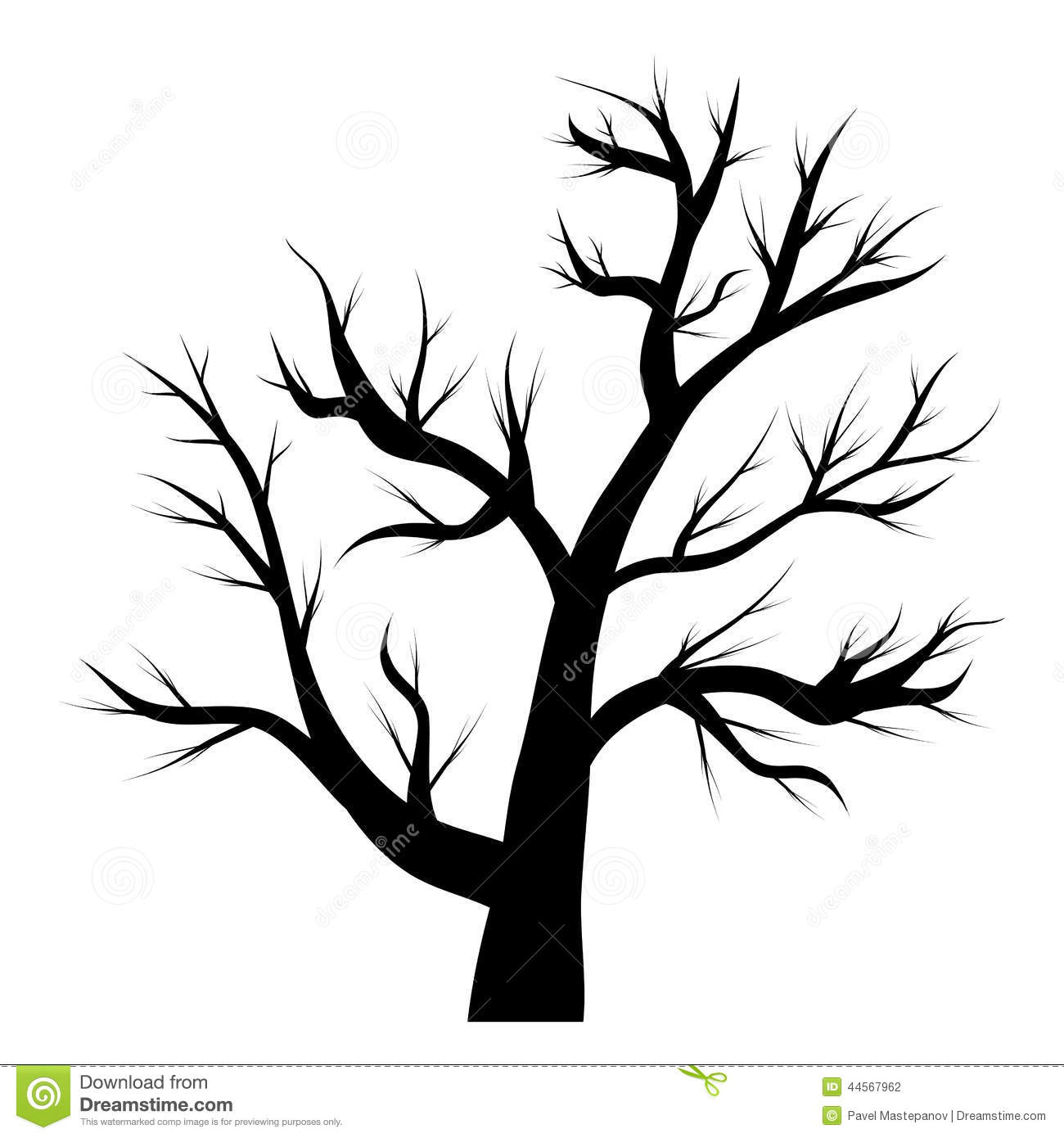 Arbre sans feuilles illustration stock illustration du nature 44567962 - Dessin arbre sans feuille ...
