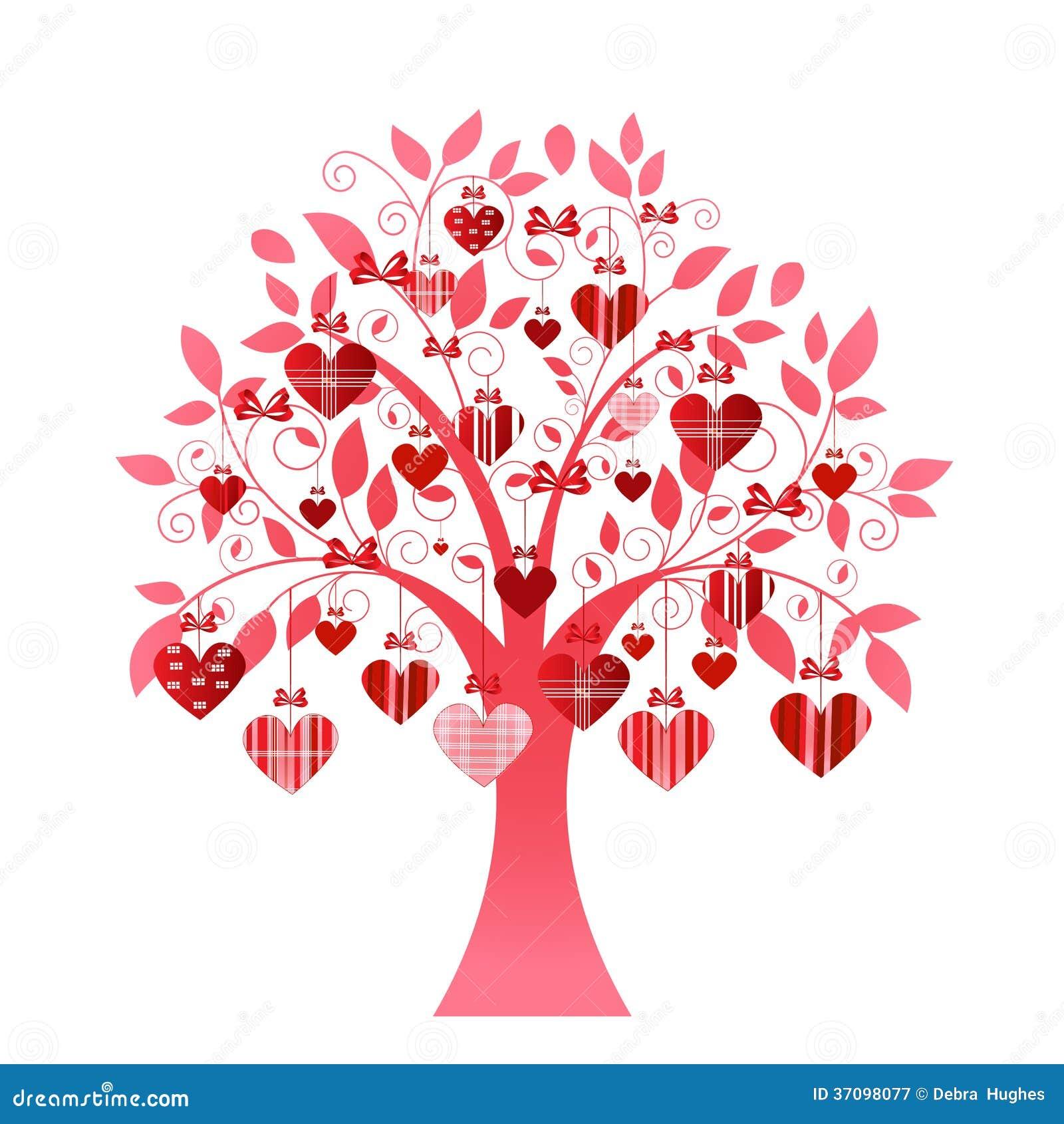 arbre sensible de coeur illustration de vecteur illustration du cr ateur 37098077. Black Bedroom Furniture Sets. Home Design Ideas