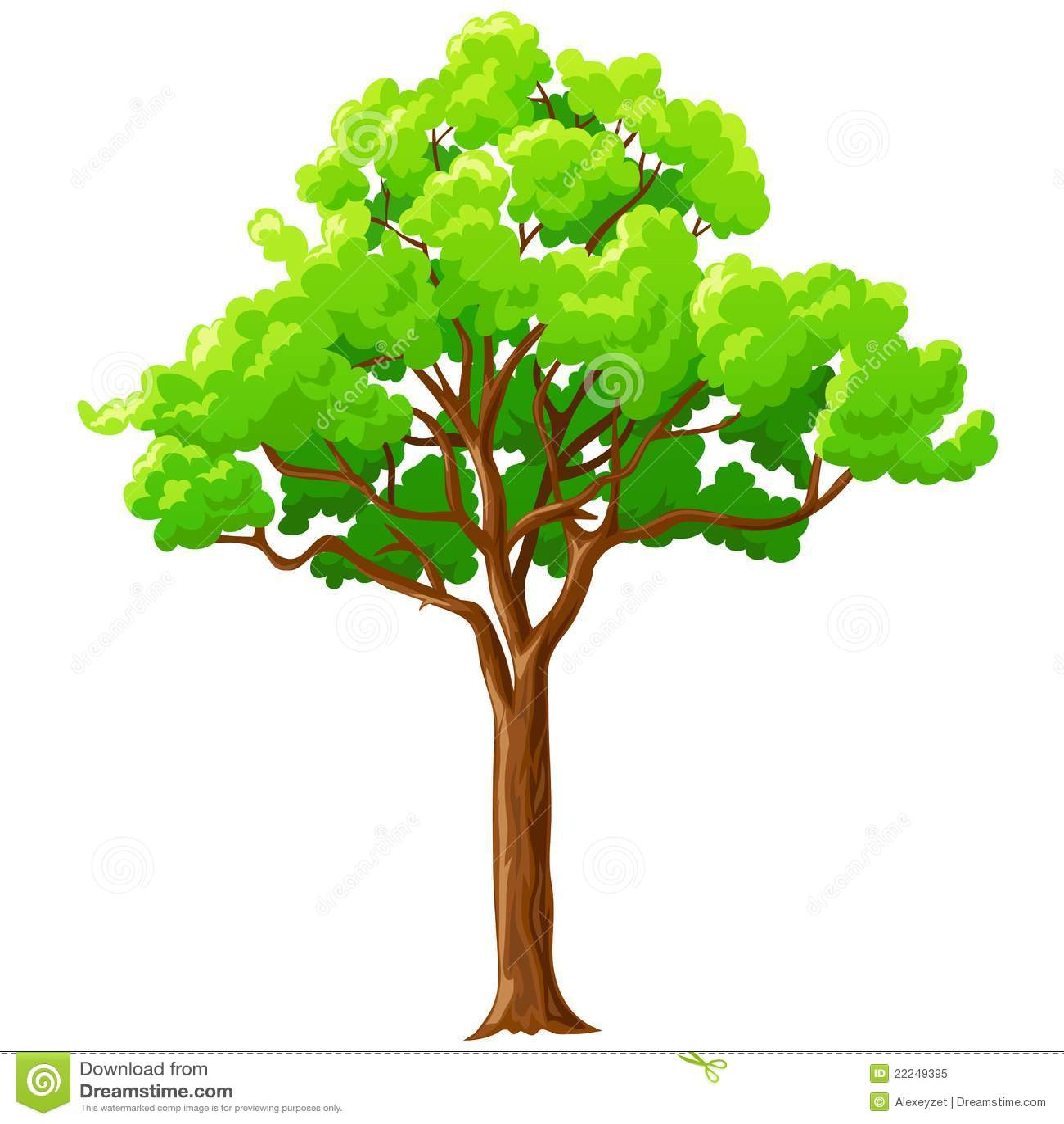 arbre vert de dessin anim d 39 isolement sur le blanc illustration de vecteur illustration du. Black Bedroom Furniture Sets. Home Design Ideas