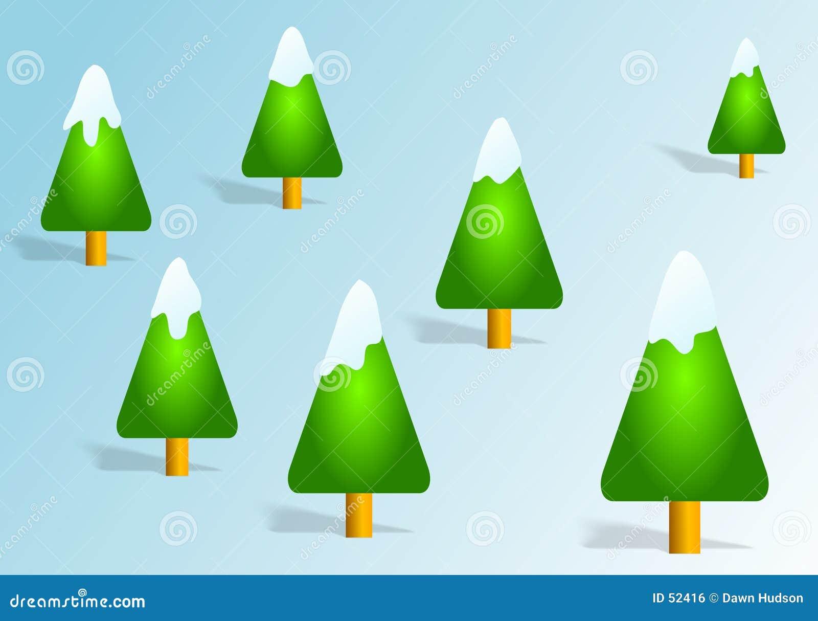 Download Arbres de Noël illustration stock. Illustration du froid - 52416
