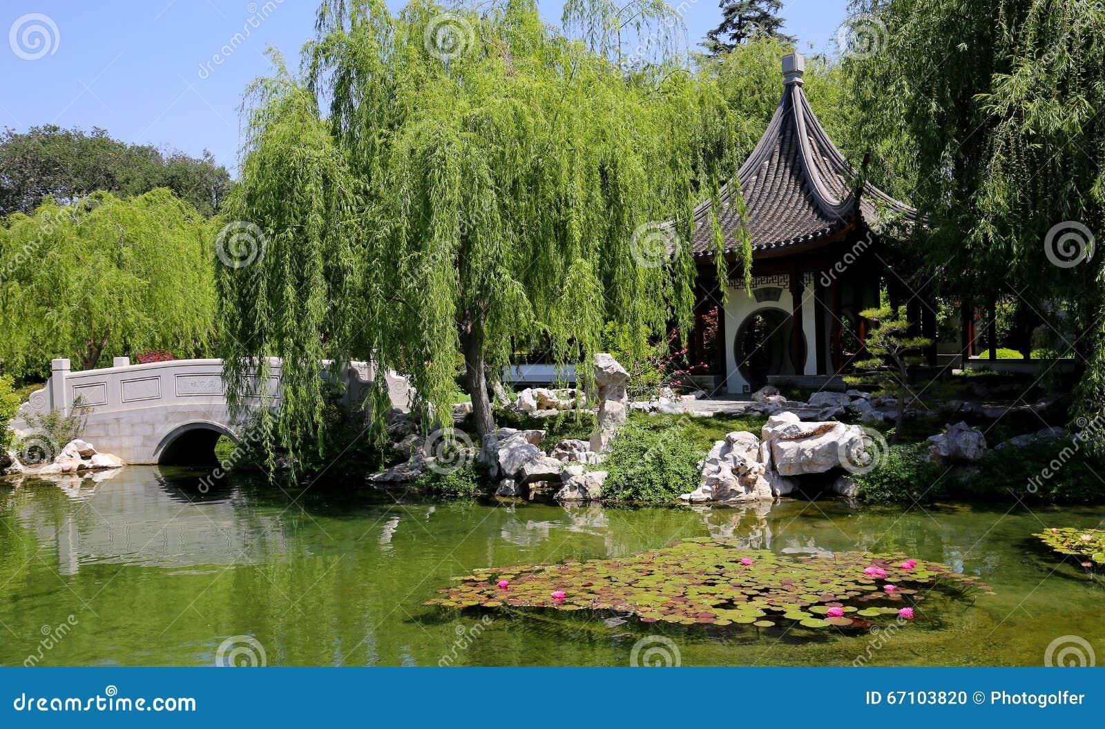 Arbres et fleurs dans un jardin japonais photo stock for Bouddha dans un jardin