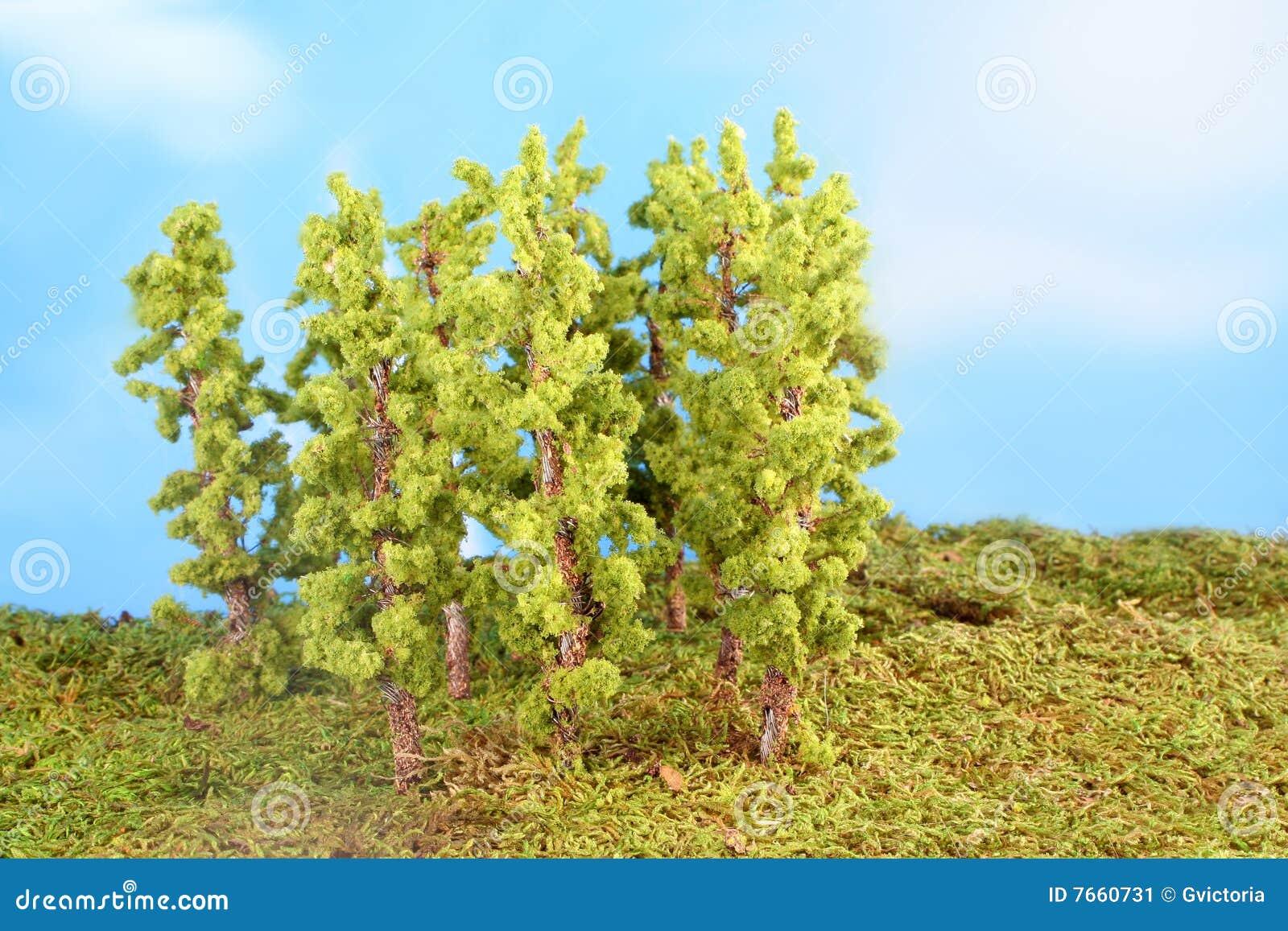 arbres miniatures artificiels image stock image 7660731. Black Bedroom Furniture Sets. Home Design Ideas