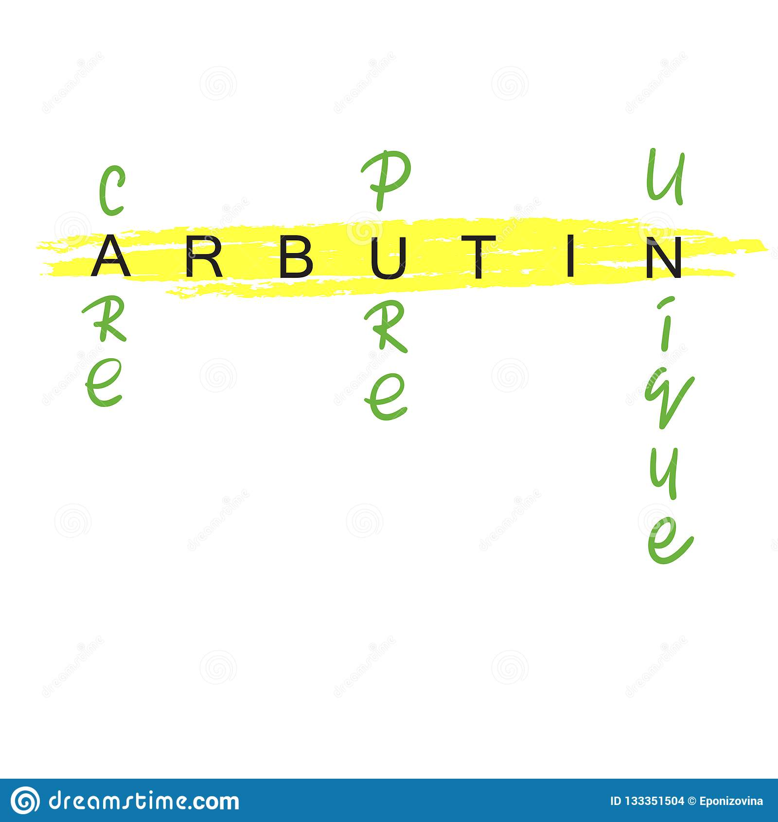 picture about Price Tag Printable called Arbutin - Handwritten Standing Of Arbutin. Print For Labels