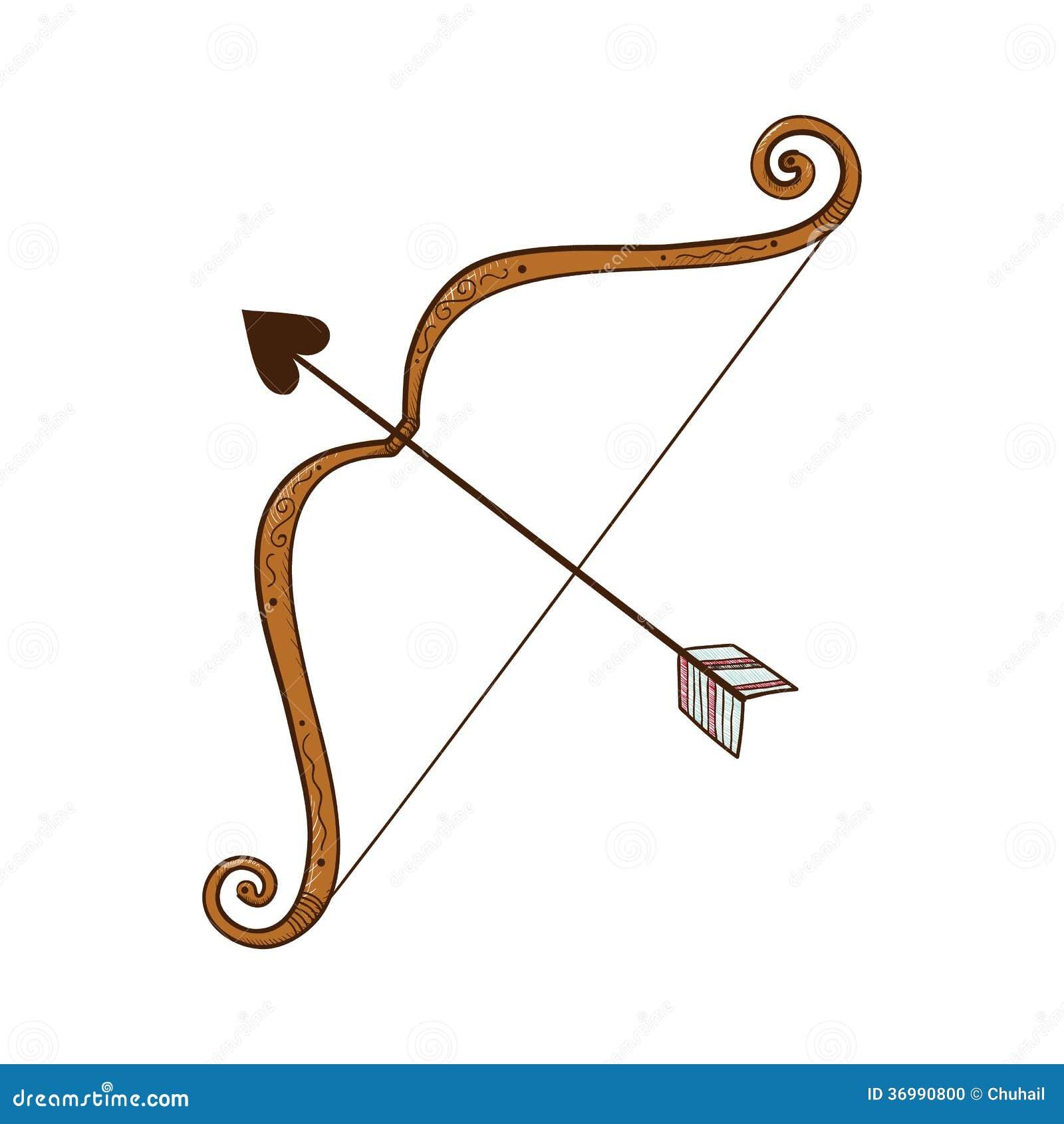 arc avec la fl che d 39 amour photo stock image 36990800. Black Bedroom Furniture Sets. Home Design Ideas