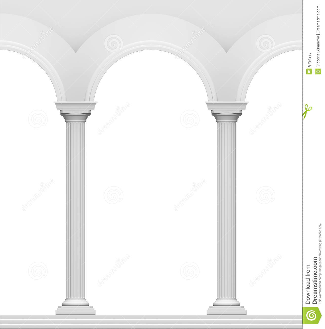Arc With Column Stock Photos Image 8794273
