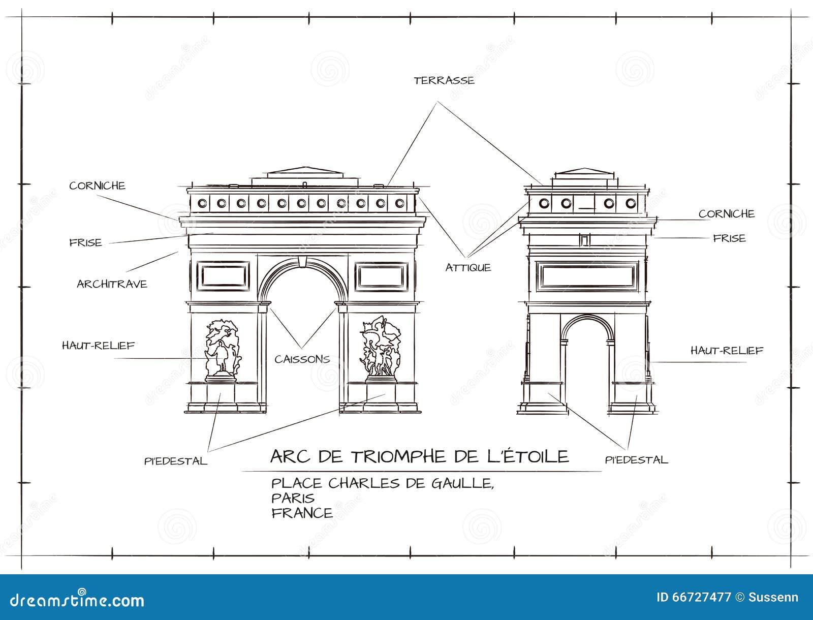 Arc de triomphe illustration de vecteur image 66727477 Architecture technique