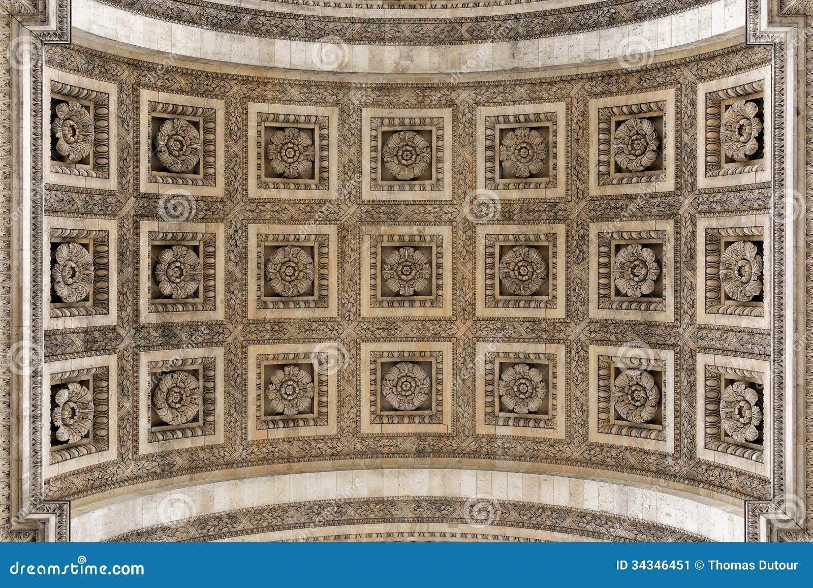 arc de triomphe arch detail stock image image 34346451