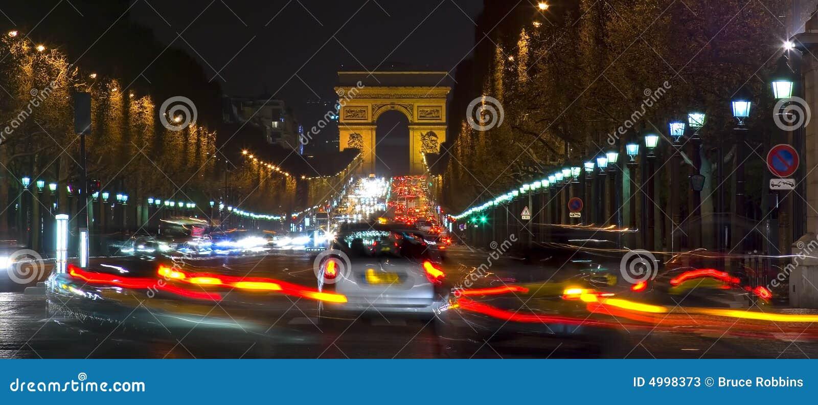 Arc de Triomphe and Champs Elysees, Paris, France