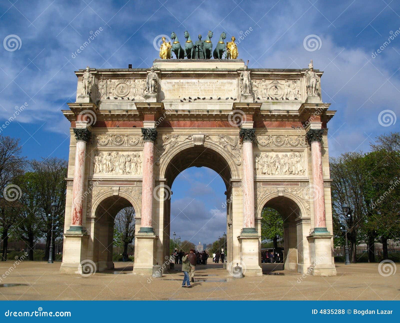 Arc de Triomphe du Carrousel, París, Francia