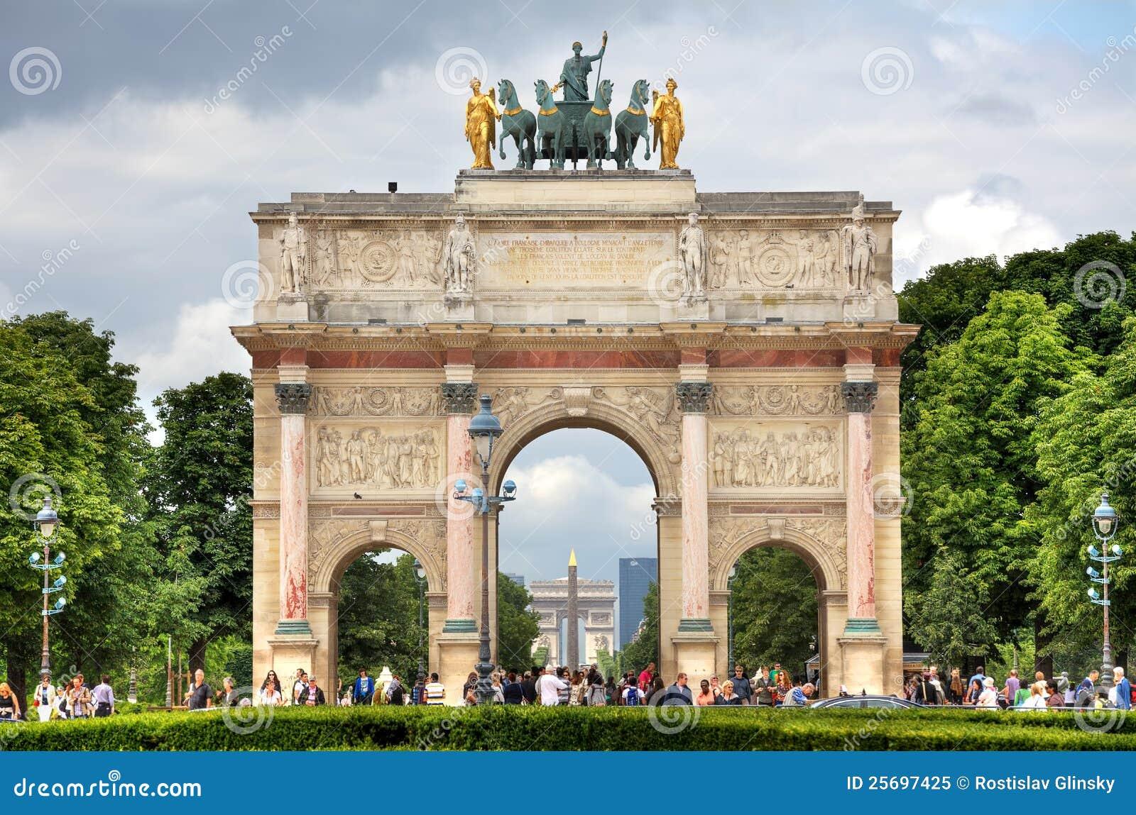 arc de triomphe du carrousel paris france editorial image image of parisian famous 25697425. Black Bedroom Furniture Sets. Home Design Ideas