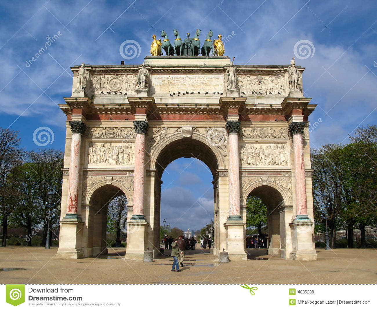 arc de triomphe du carrousel paris france stock photo image of triumphal carrousel 4835288. Black Bedroom Furniture Sets. Home Design Ideas