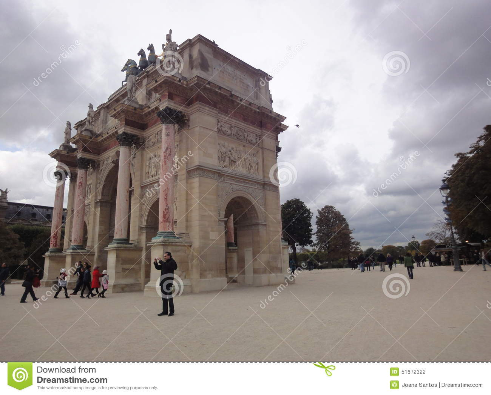 Arc de triomphe du Carrousel, Tuileries Garden, Paris, France
